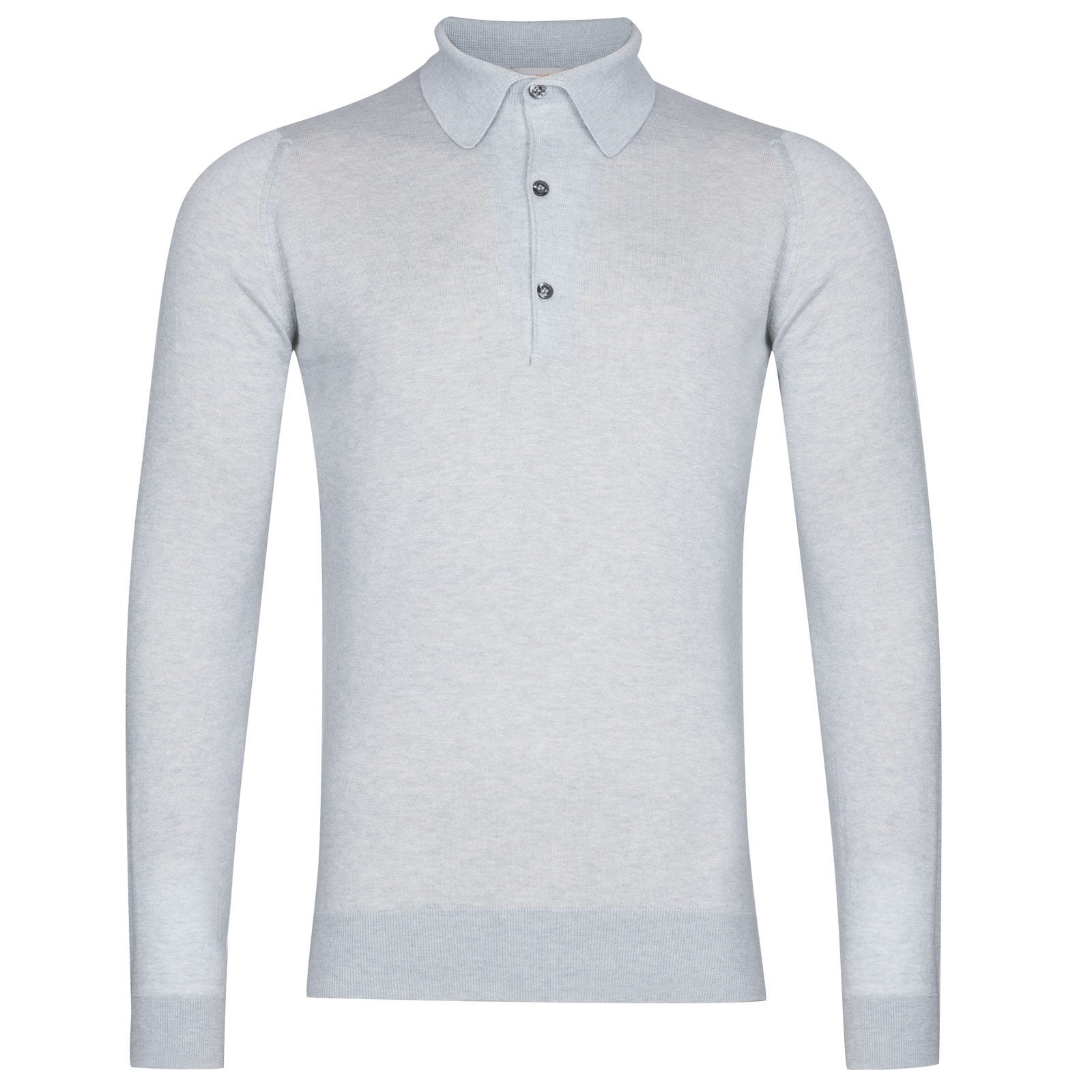 John Smedley Lanlay Sea Island Cotton and Cashmere Shirt in Silver-L