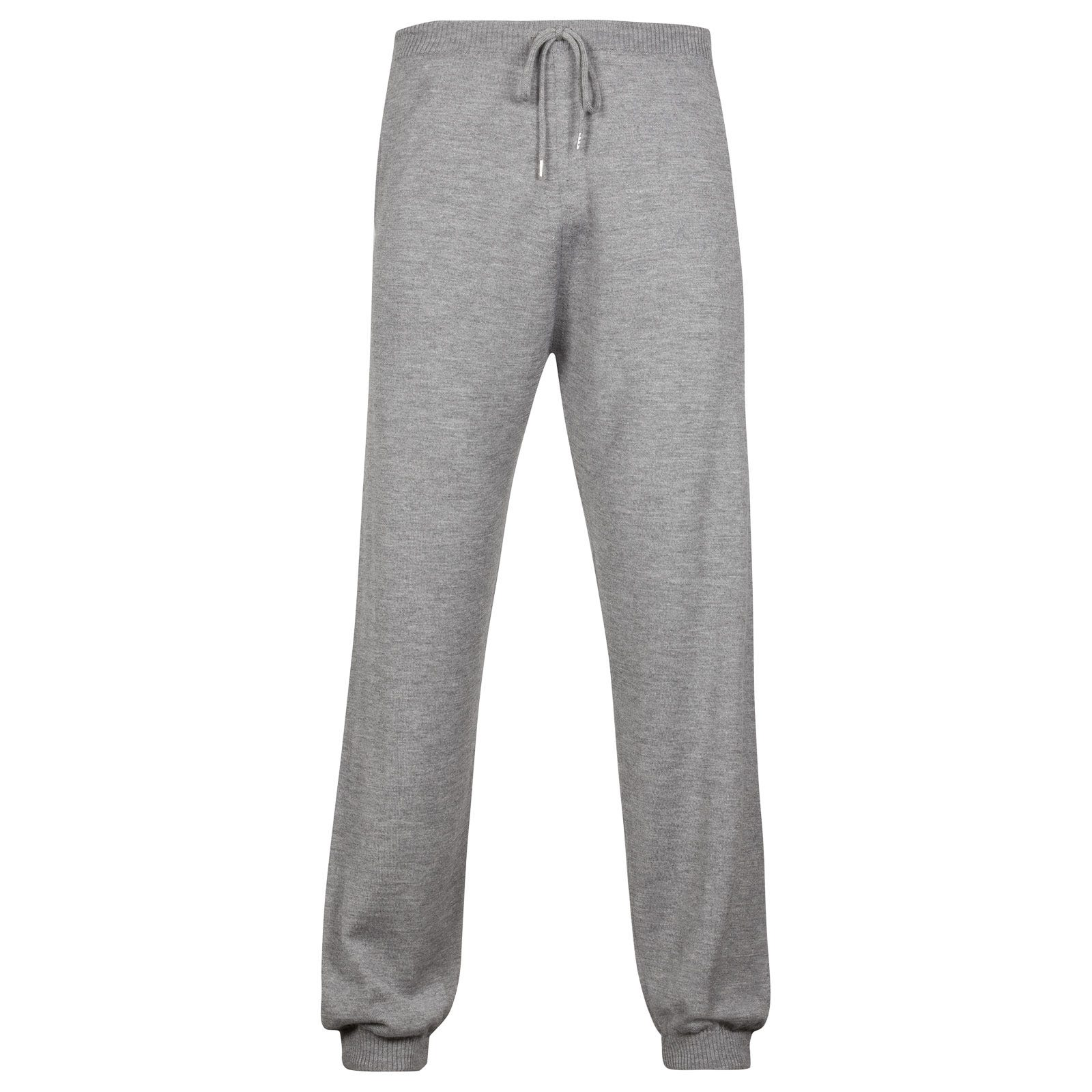 John Smedley Leats Trouser Cashmere & Silk in Silver-XL
