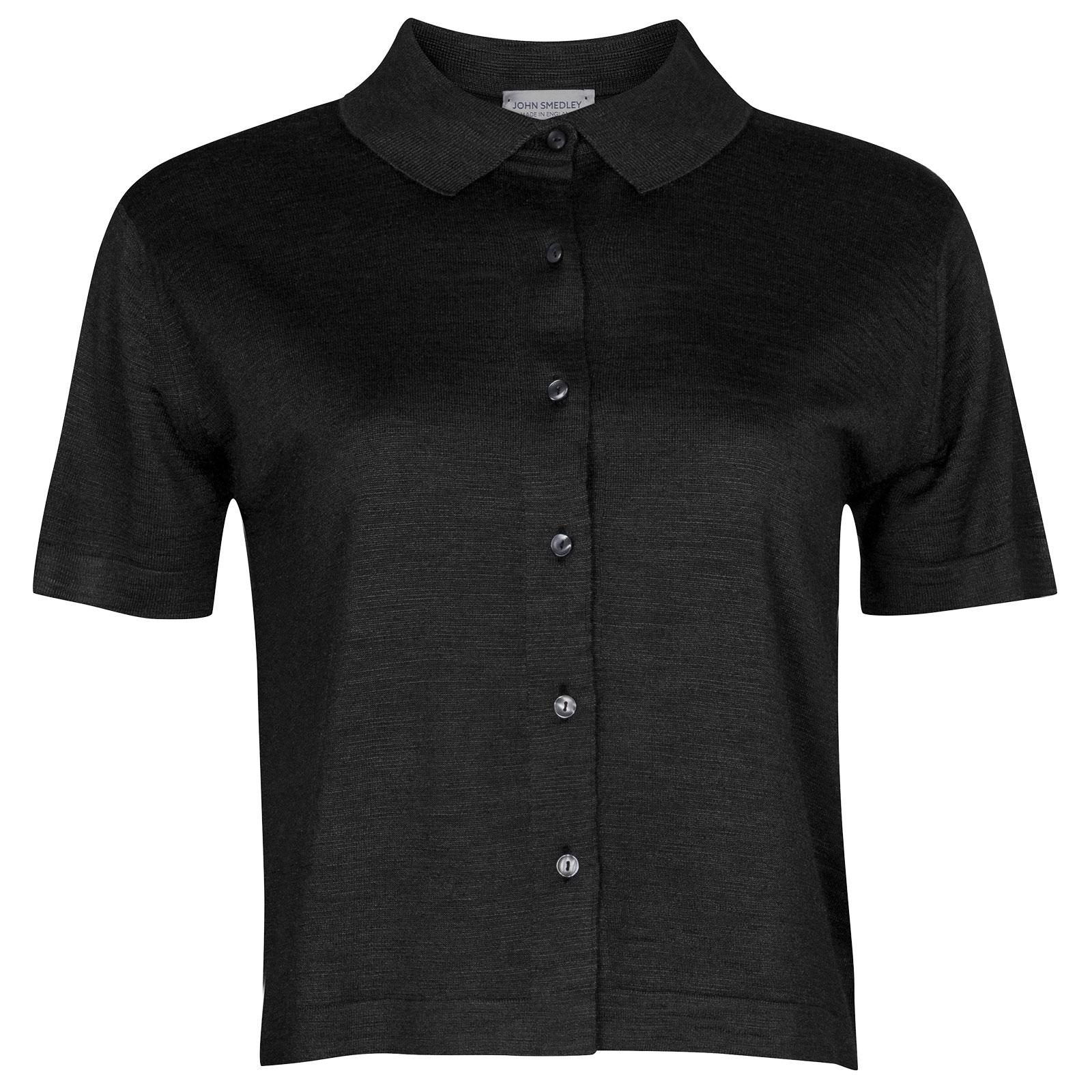 John Smedley Lilah in Black Shirt-MED