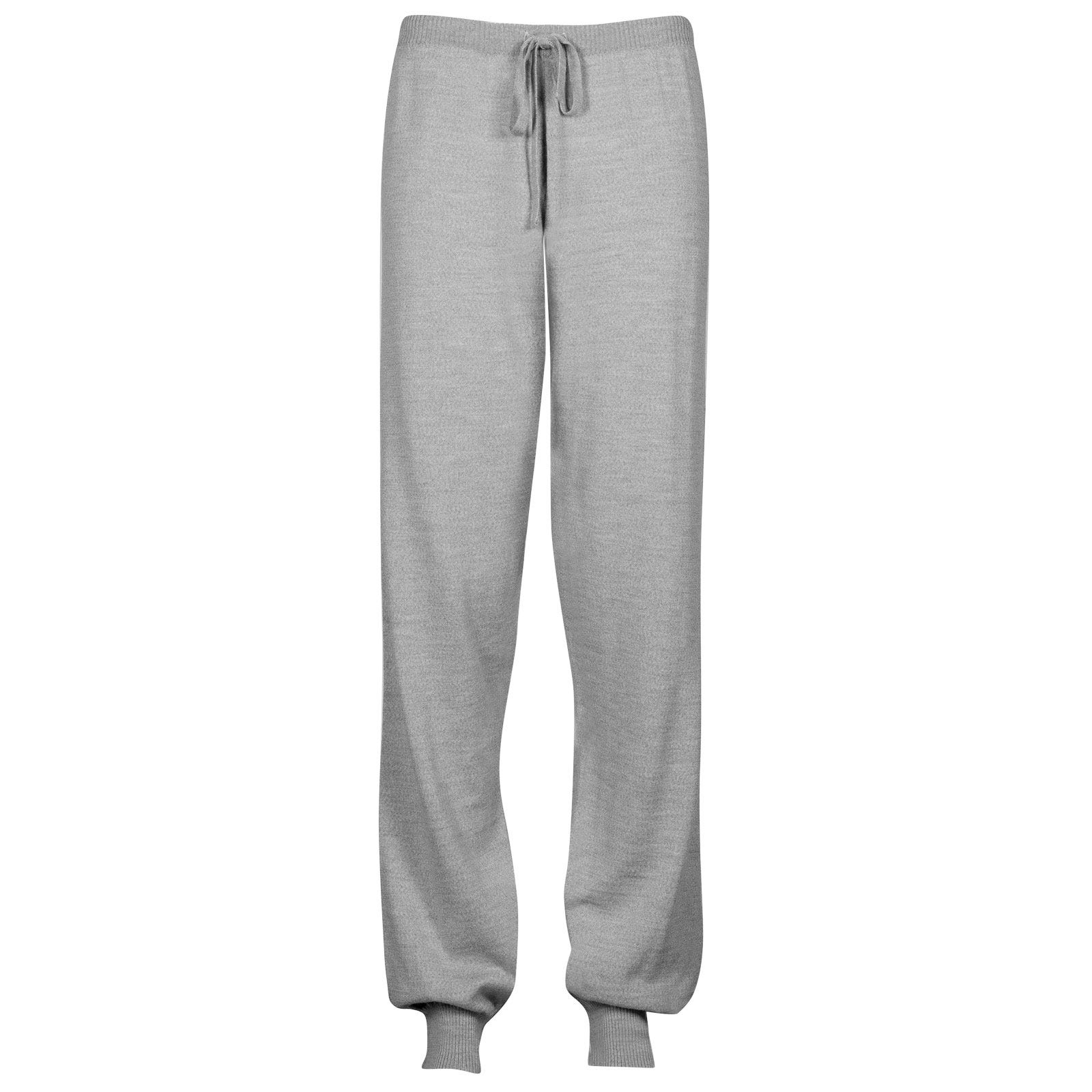 John Smedley Lock Merino Wool Trouser in Bardot Grey-XXL