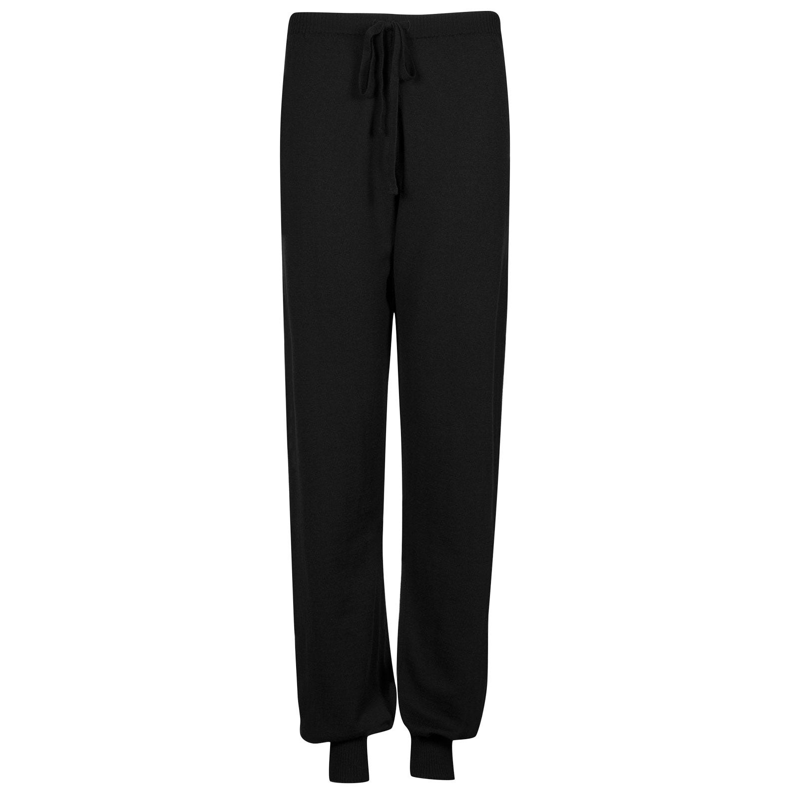 John Smedley Lock Merino Wool Trouser in Black-S