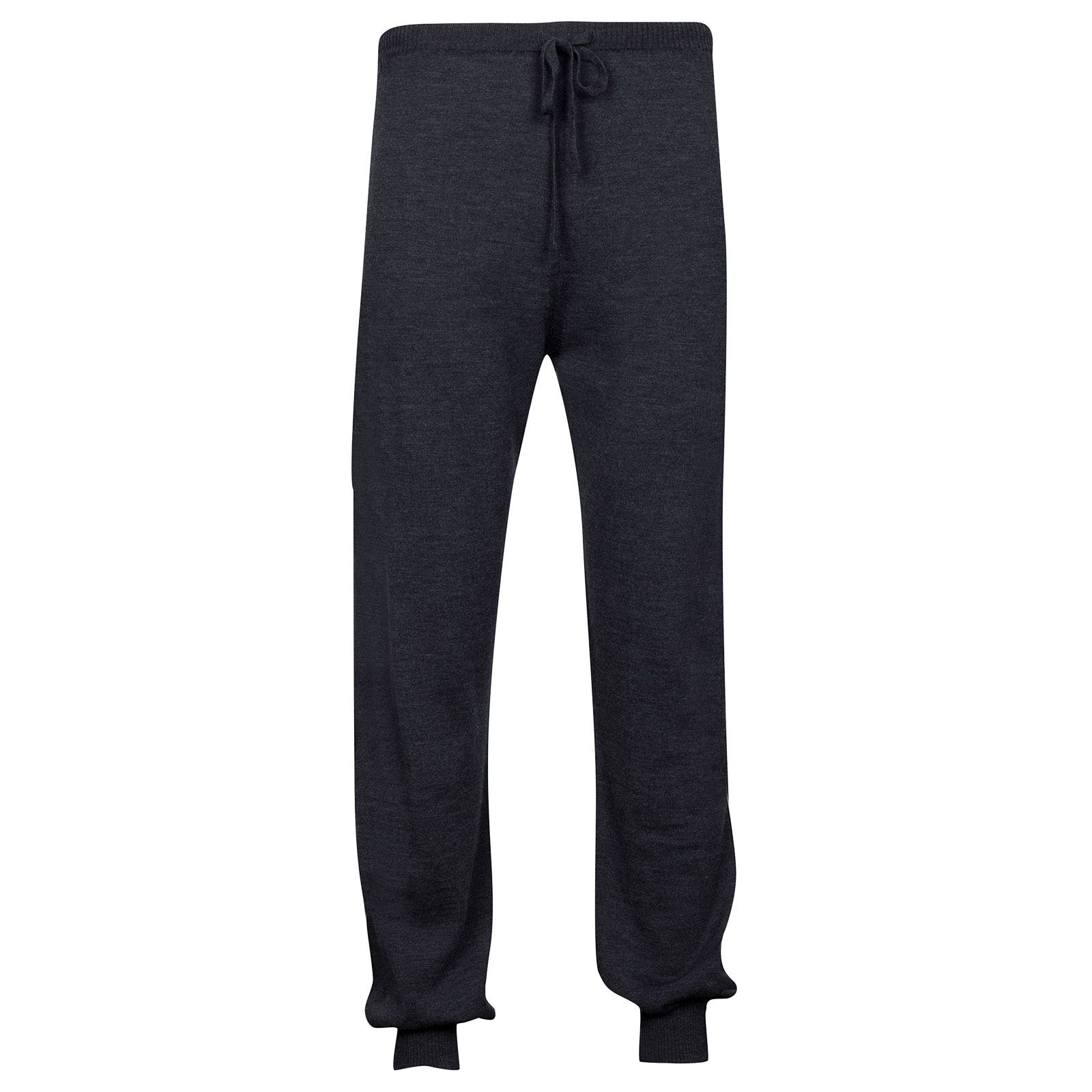 John Smedley Lock Merino Wool Trouser in Charcoal-L