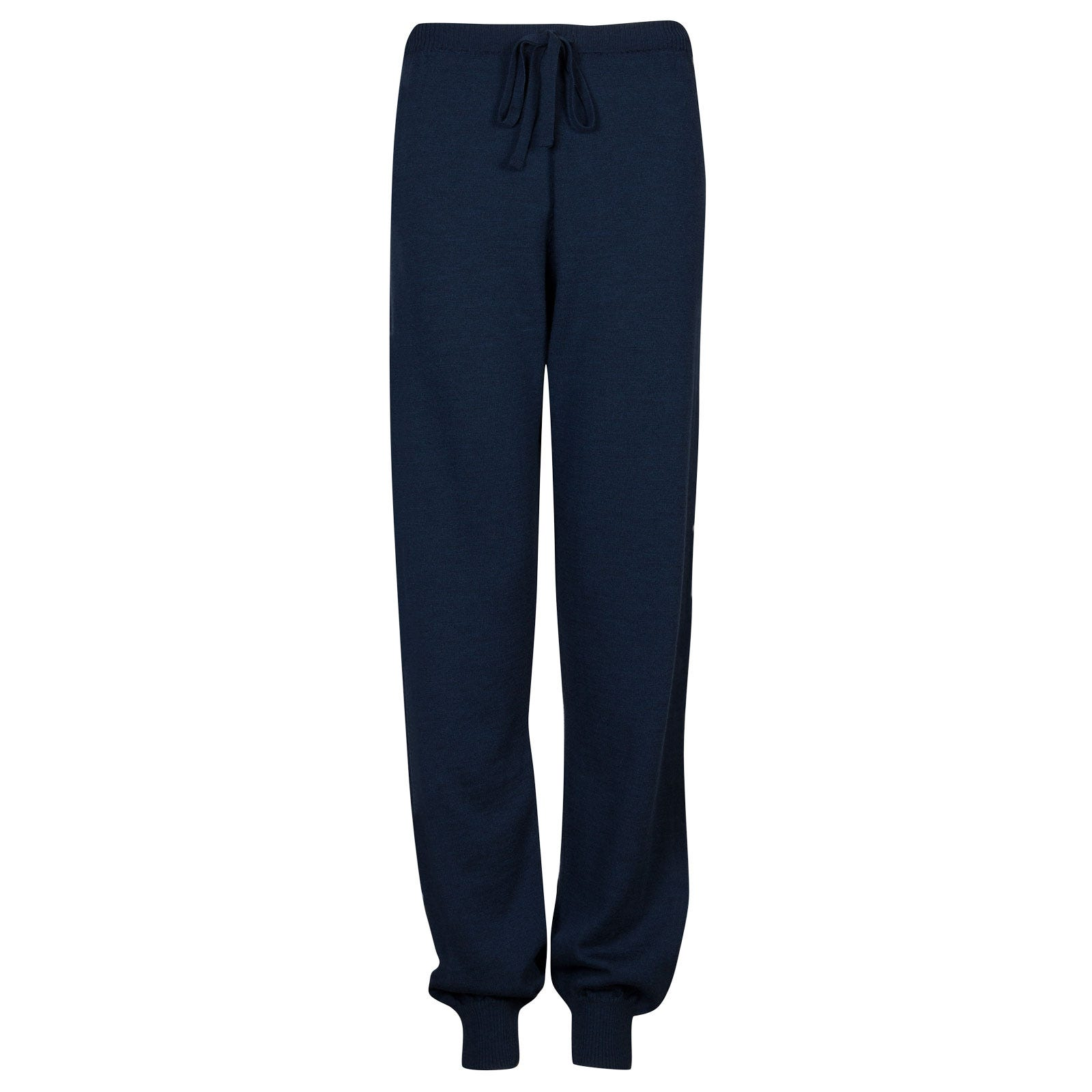 John Smedley Lock Merino Wool Trouser in Indigo-XL