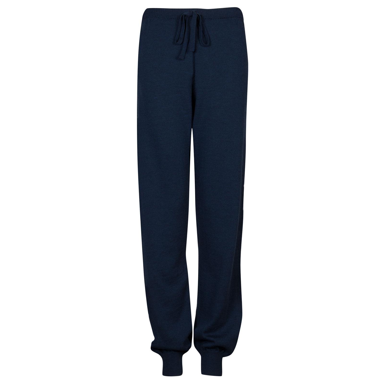 John Smedley Lock Merino Wool Trouser in Indigo-XXL