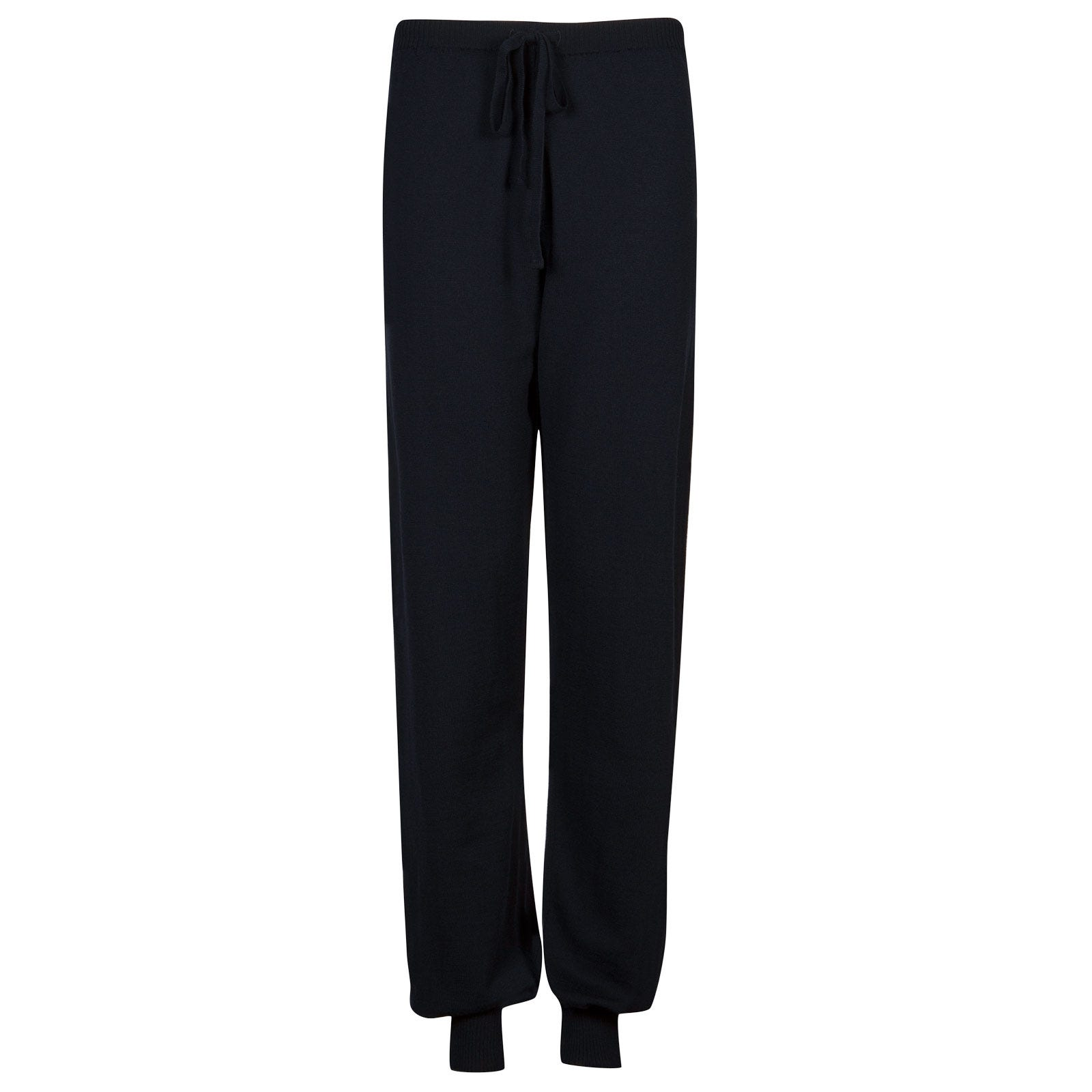 John Smedley Lock Merino Wool Trouser in Midnight-S