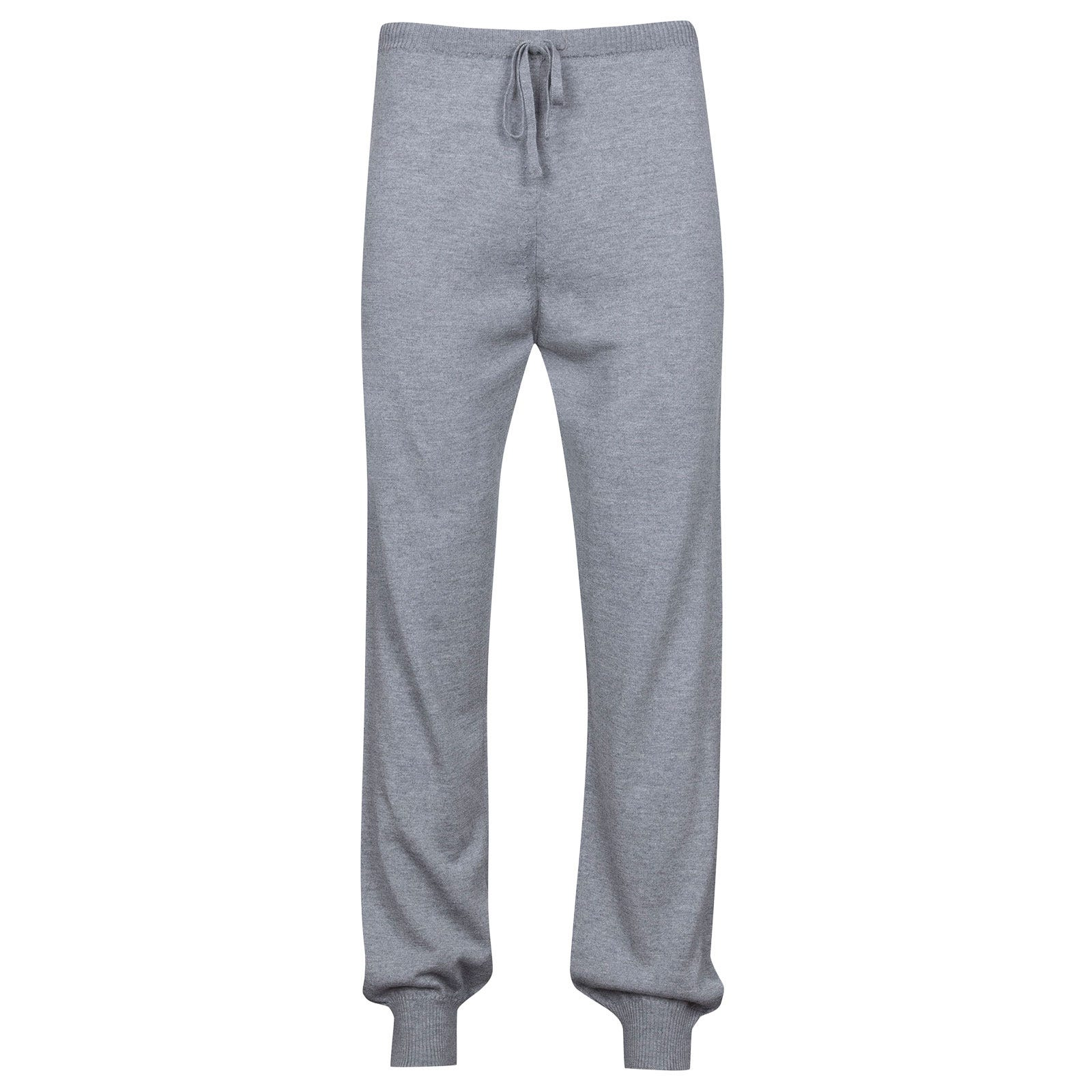 John Smedley Lock Merino Wool Trouser in Silver-XXL