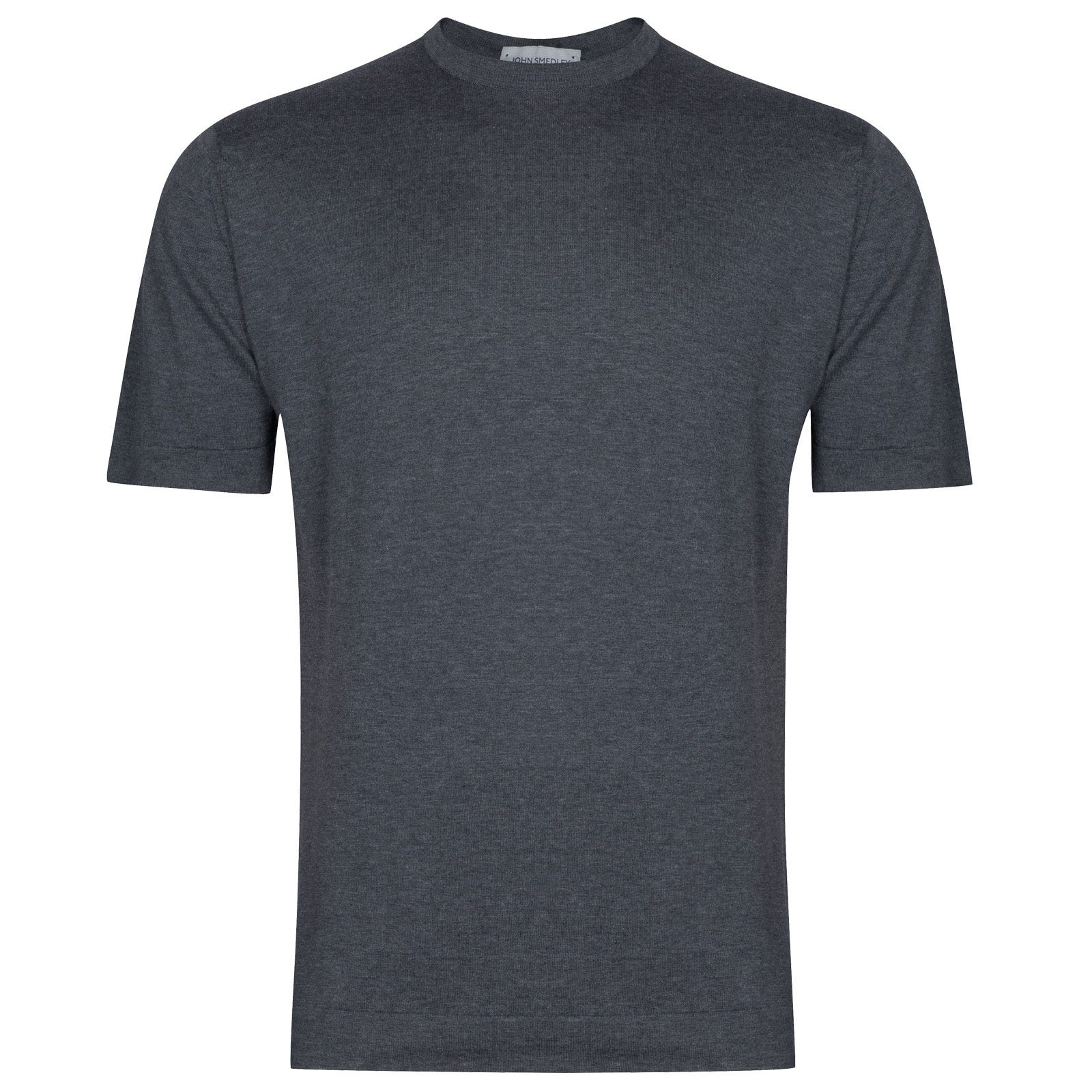 John Smedley Lorca in Charcoal T-Shirt-MED
