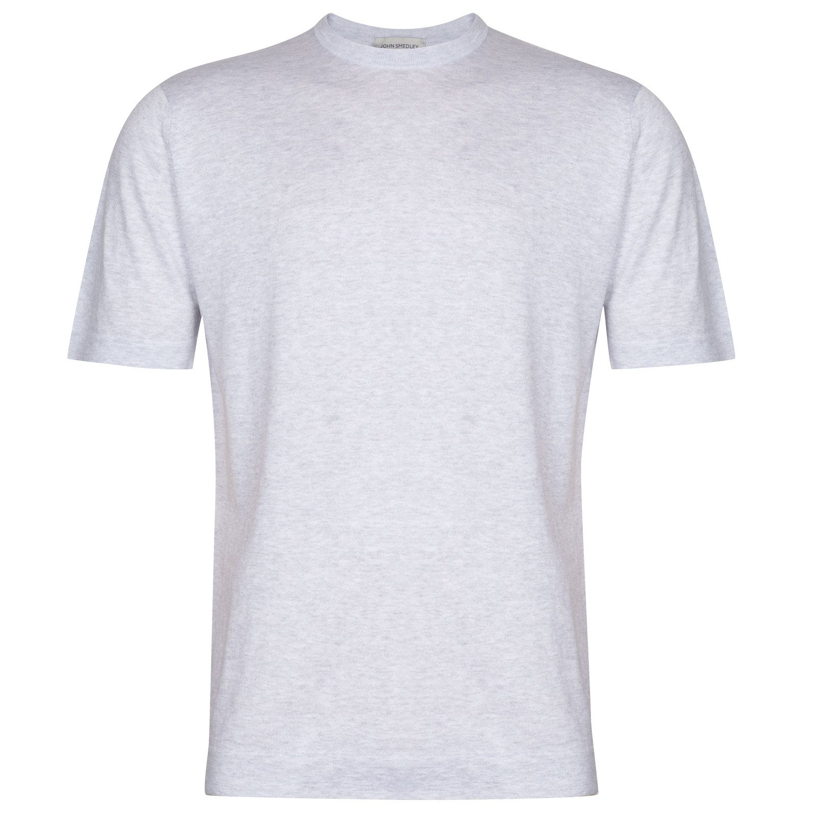 John Smedley Lorca in Feather Grey T-Shirt-XLG