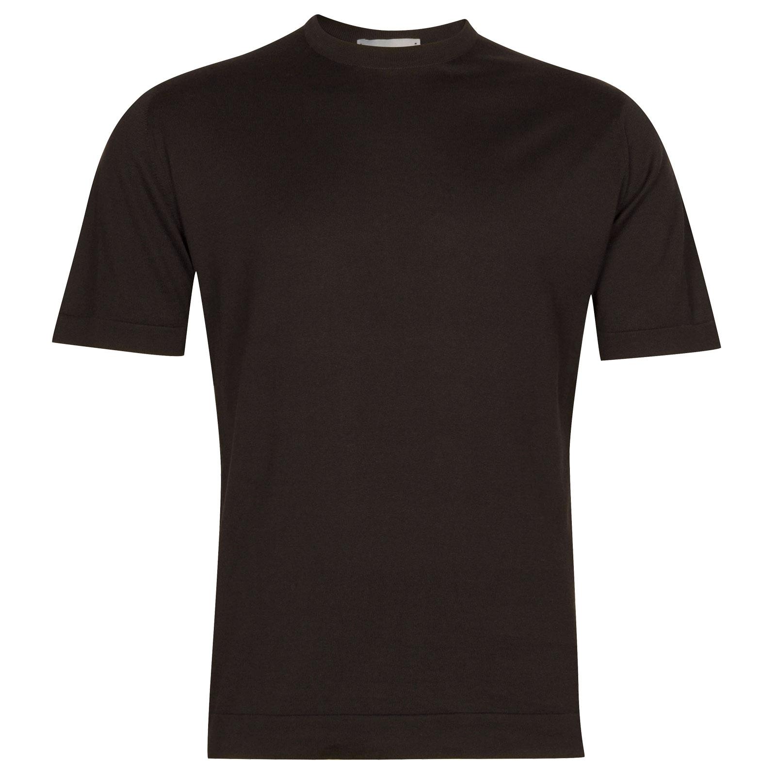 John Smedley Lorca in Flannel Grey T-Shirt-SML