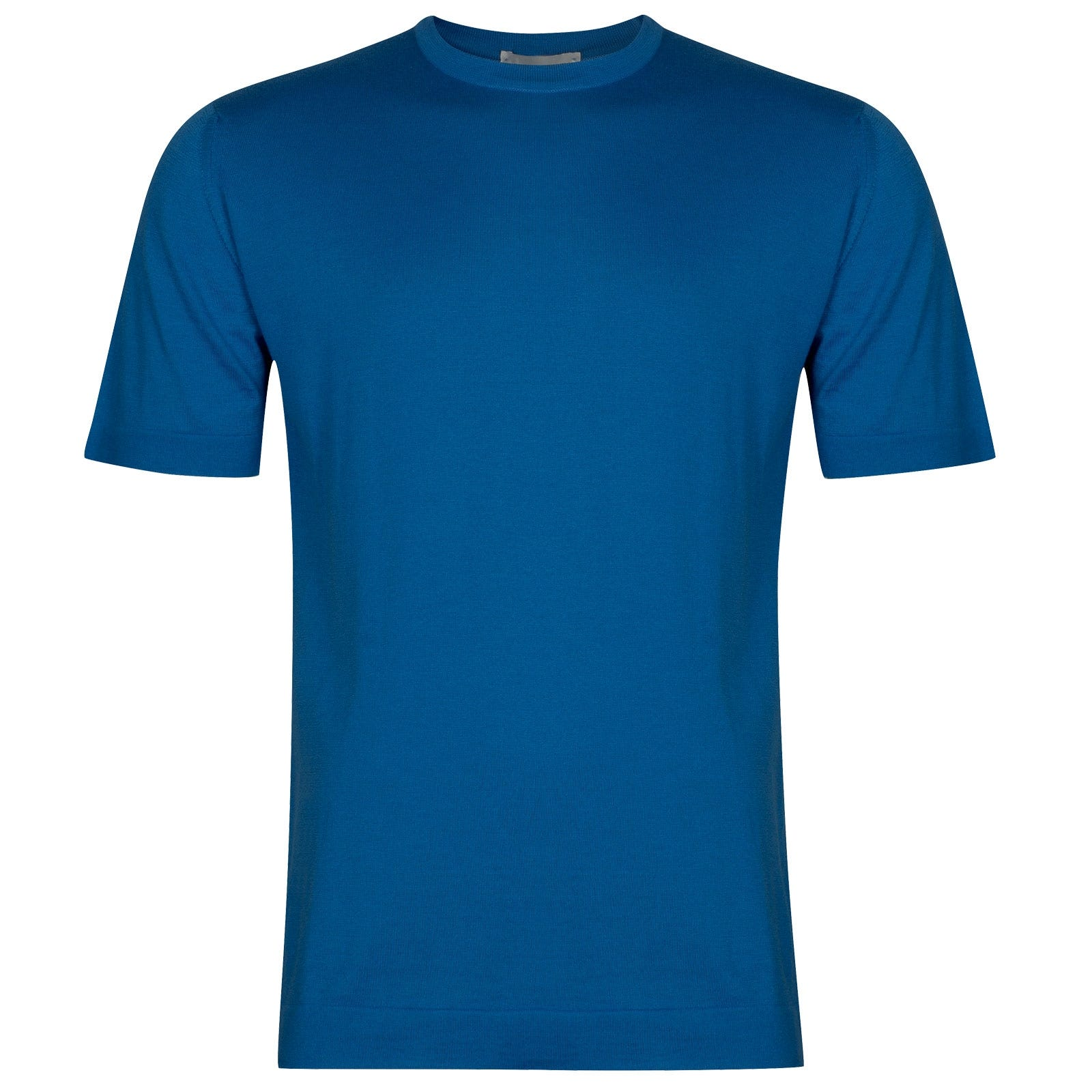 John Smedley Lorca in Statice Blue T-Shirt-XLG