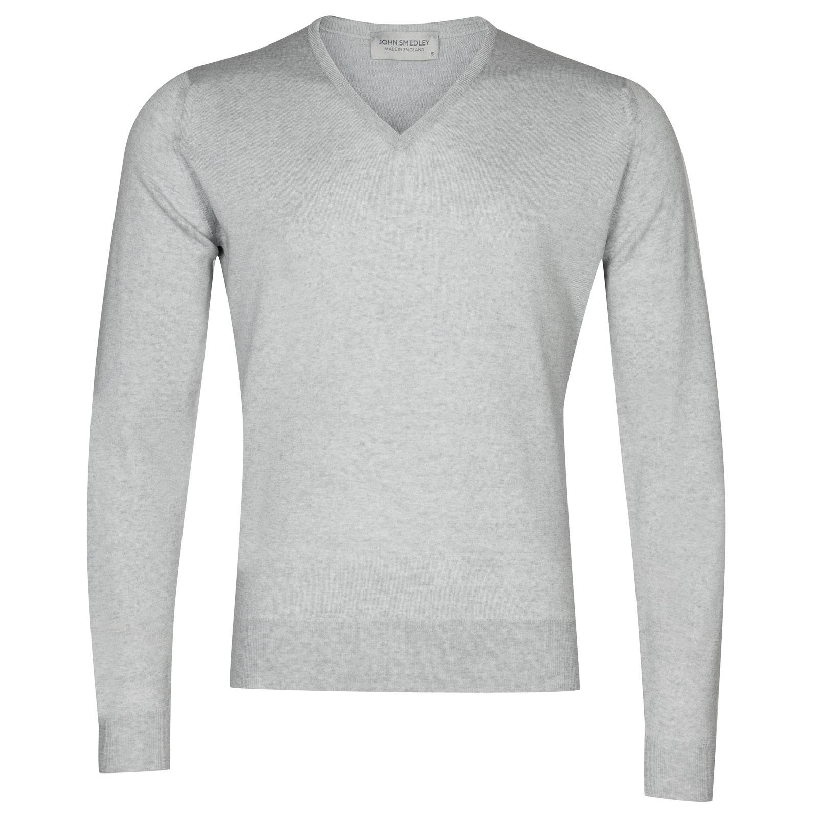 John Smedley Lugano Merino Wool Pullover in Bardot Grey-XL