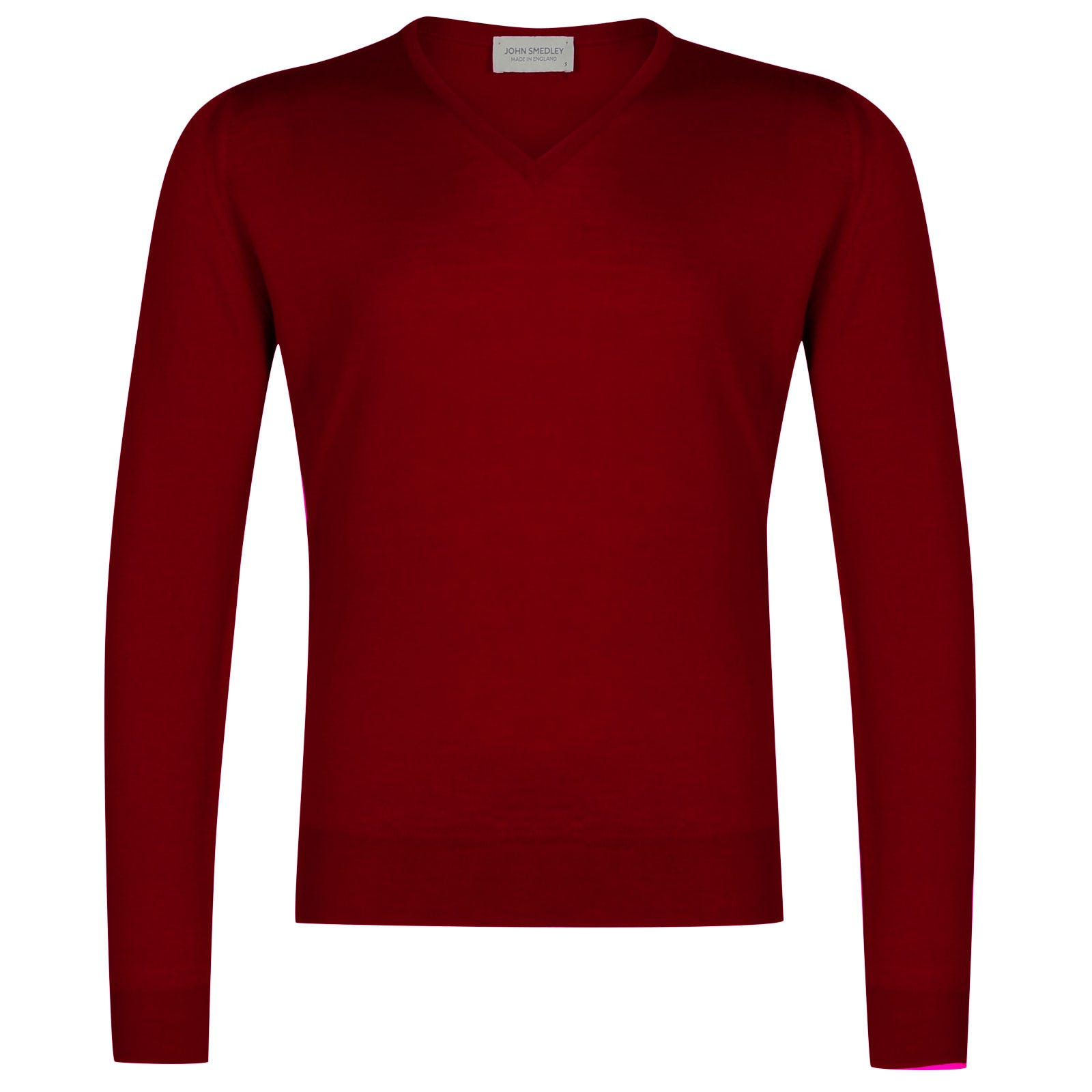 John Smedley Lugano Merino Wool Pullover in Crimson Forest-M