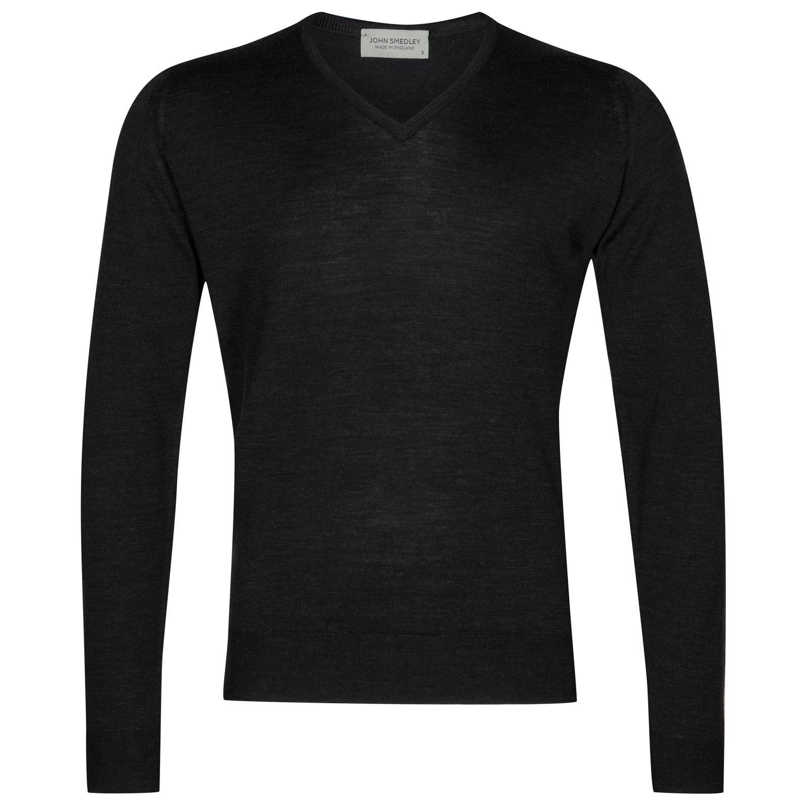 John Smedley Lugano Merino Wool Pullover in Hepburn Smoke-S