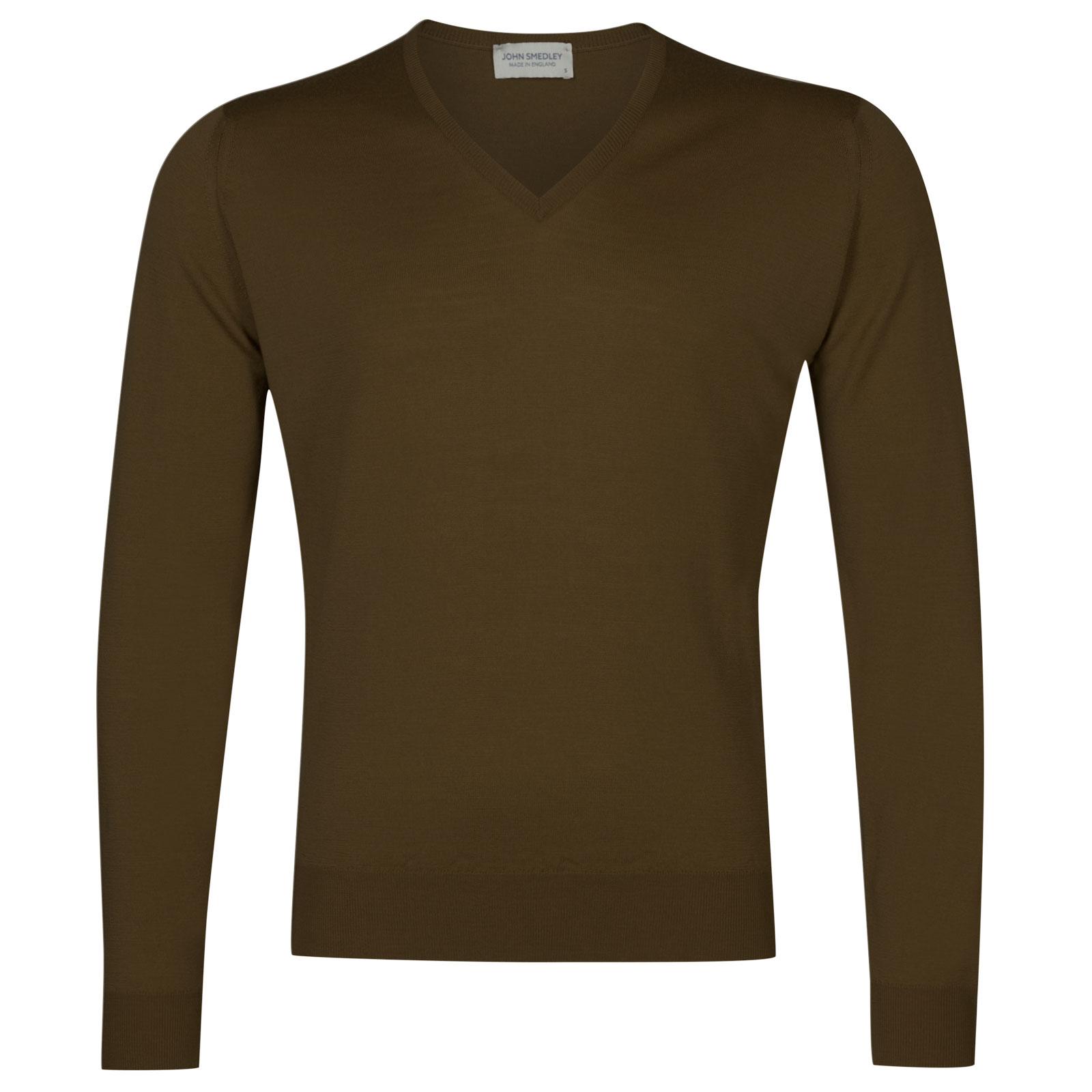 John Smedley Lugano Merino Wool Pullover in Kielder Green-M