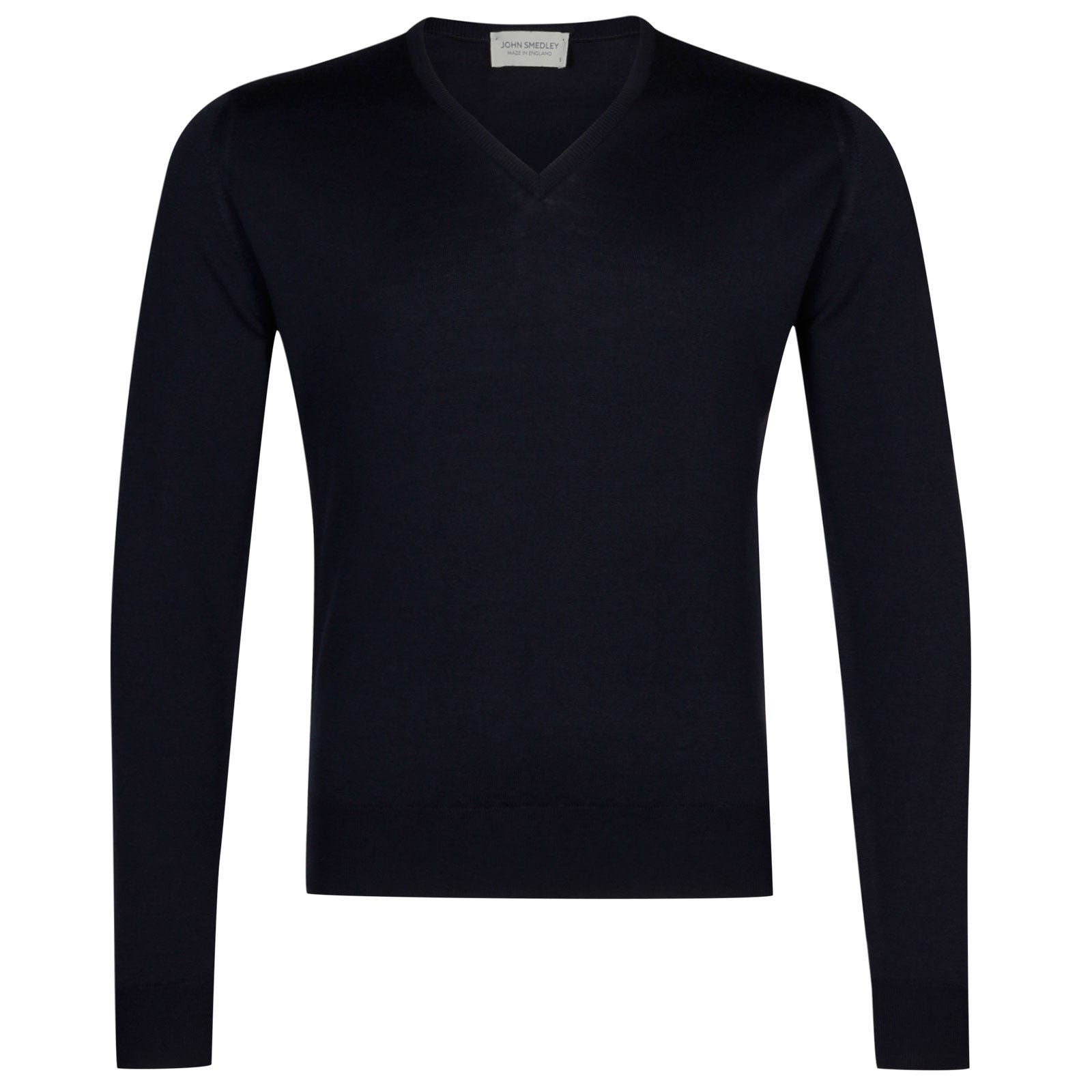 John Smedley Lugano Merino Wool Pullover in Midnight-XL