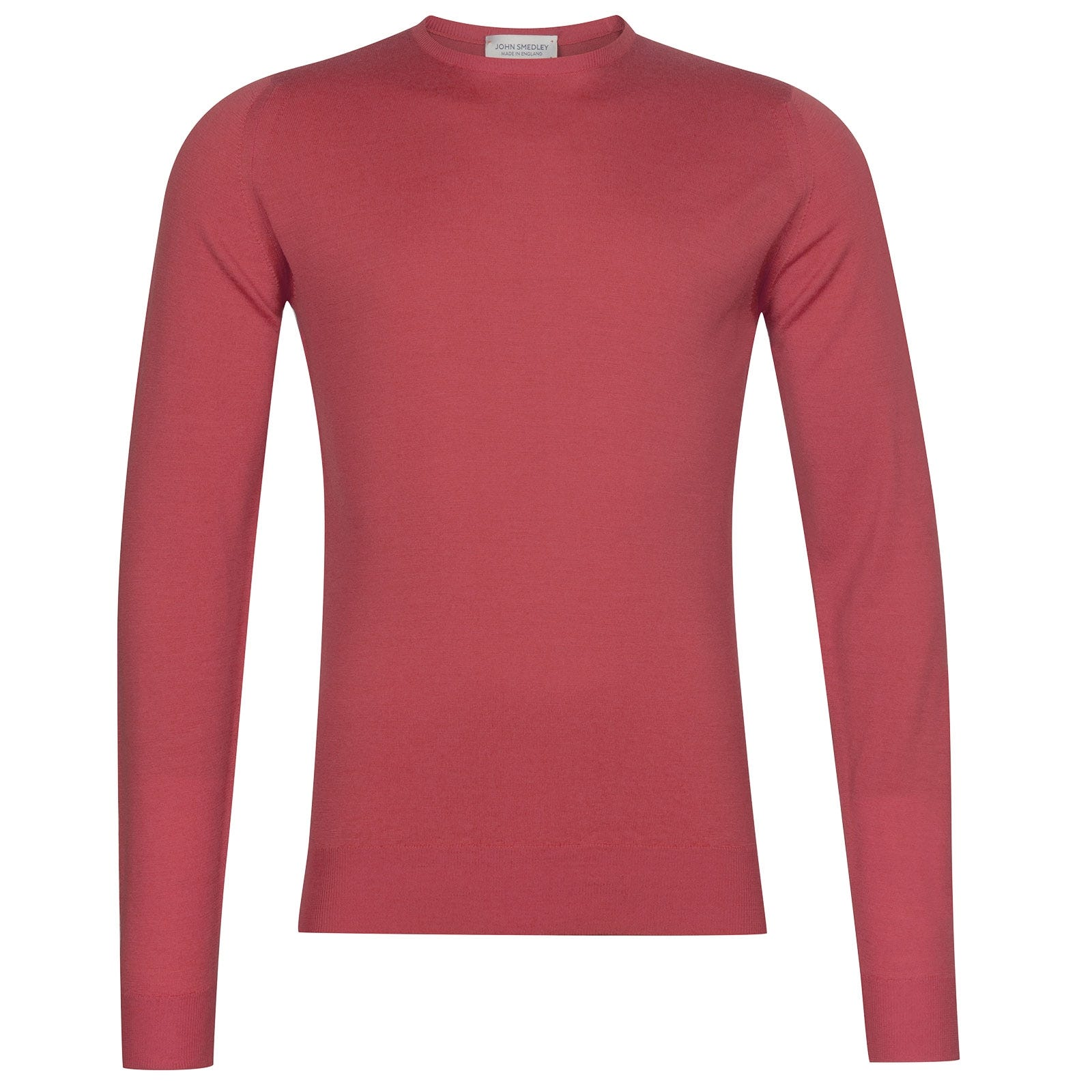 John Smedley Lundy Merino Wool Pullover in Atomic Cerise-XXL