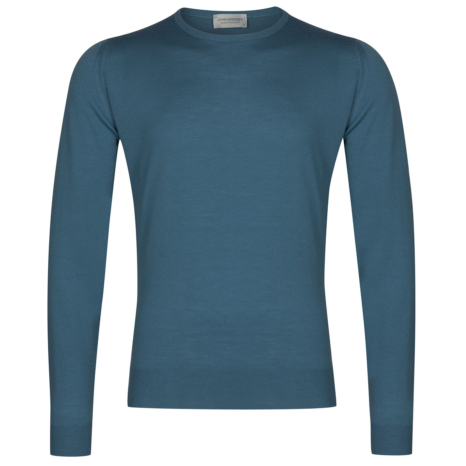 John Smedley Lundy Merino Wool Pullover in Bias Blue-S