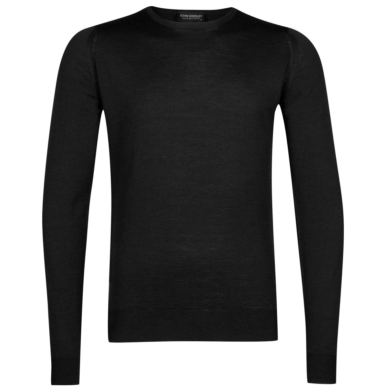 John Smedley lundy Merino Wool Pullover in Black-M