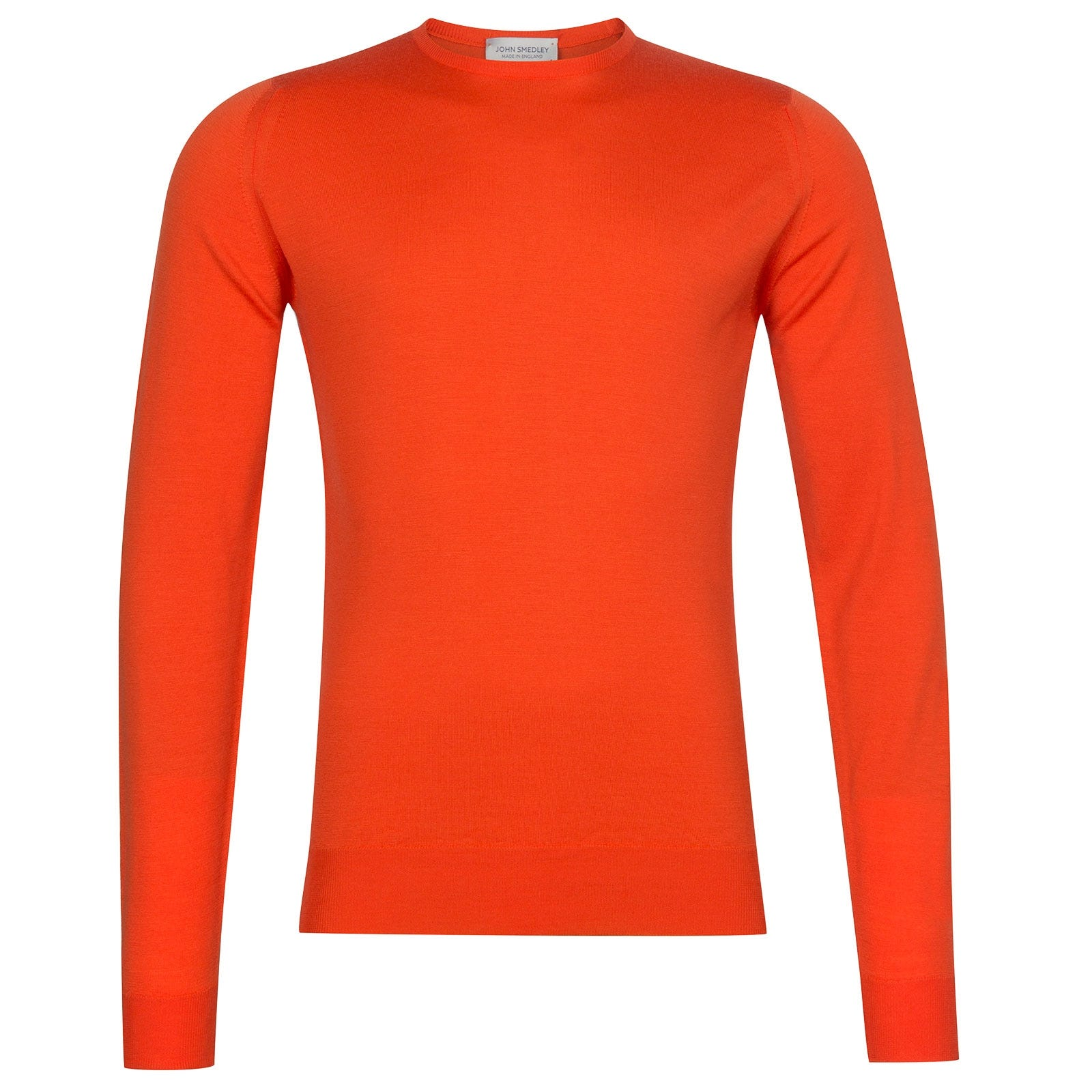 John Smedley Lundy Merino Wool Pullover in Blaze Orange-M