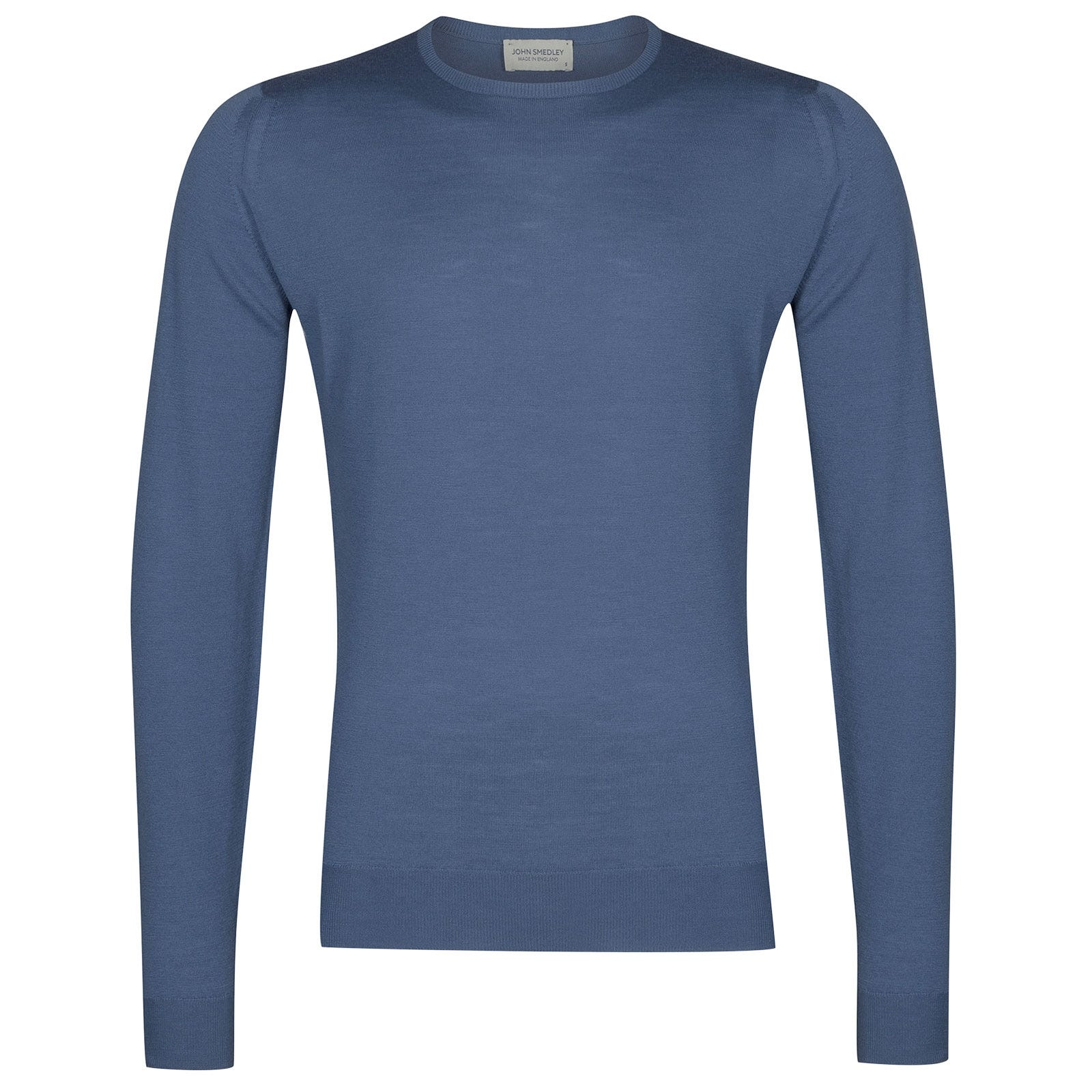 John Smedley Lundy in Blue Iris Pullover-SML