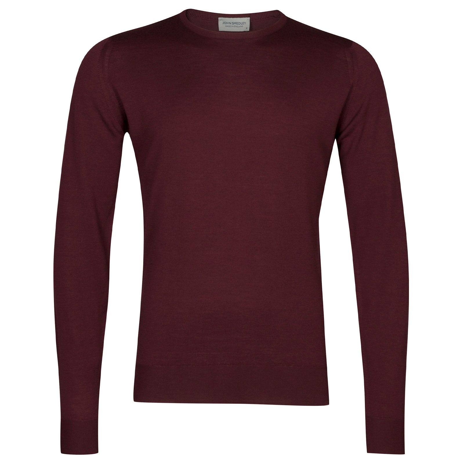 John Smedley Lundy Merino Wool Pullover in Bordeaux-M