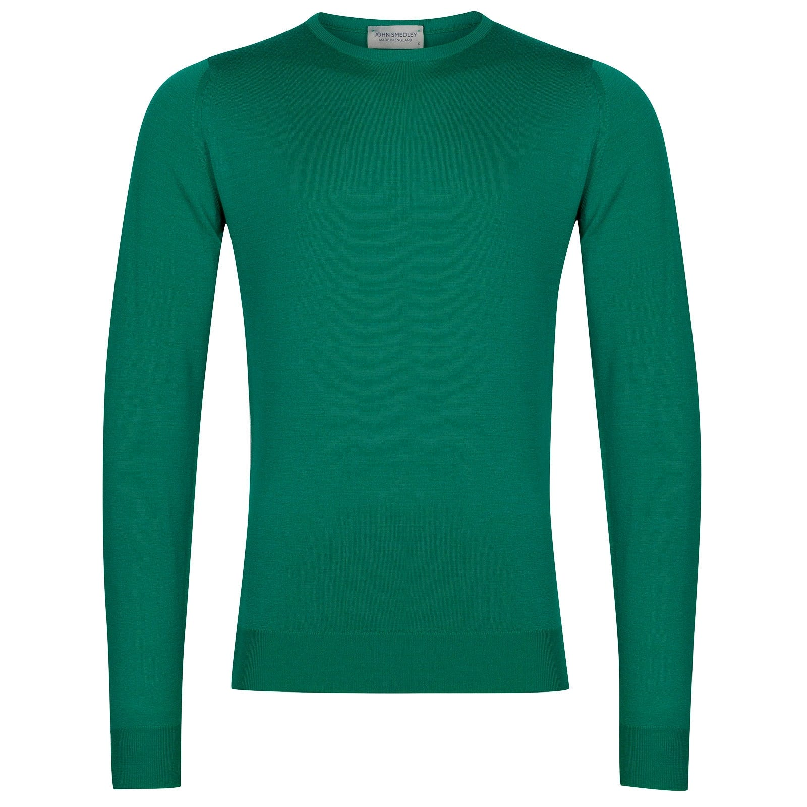 John Smedley Lundy Merino Wool Pullover in Boron Green-S