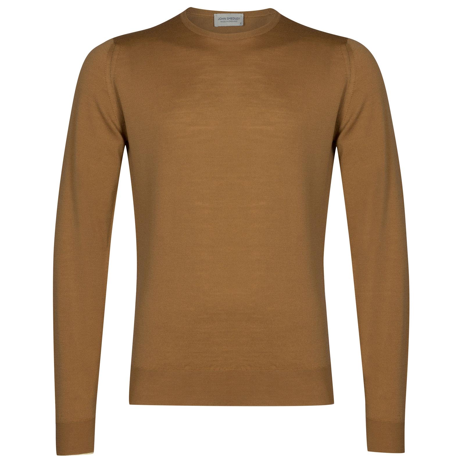 John Smedley lundy Merino Wool Pullover in Camel-XXL
