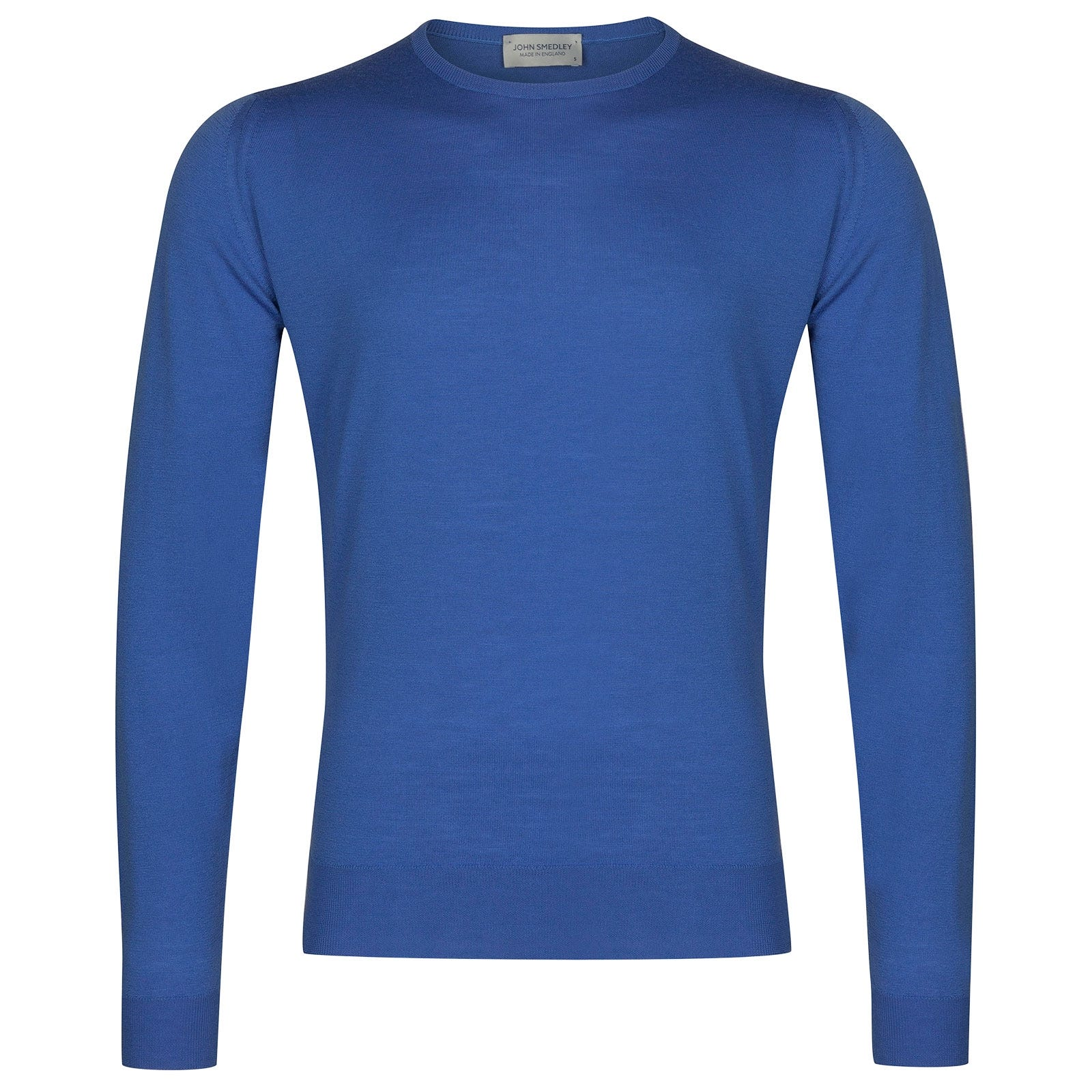 John Smedley Lundy Merino Wool Pullover in Chambray Blue-L