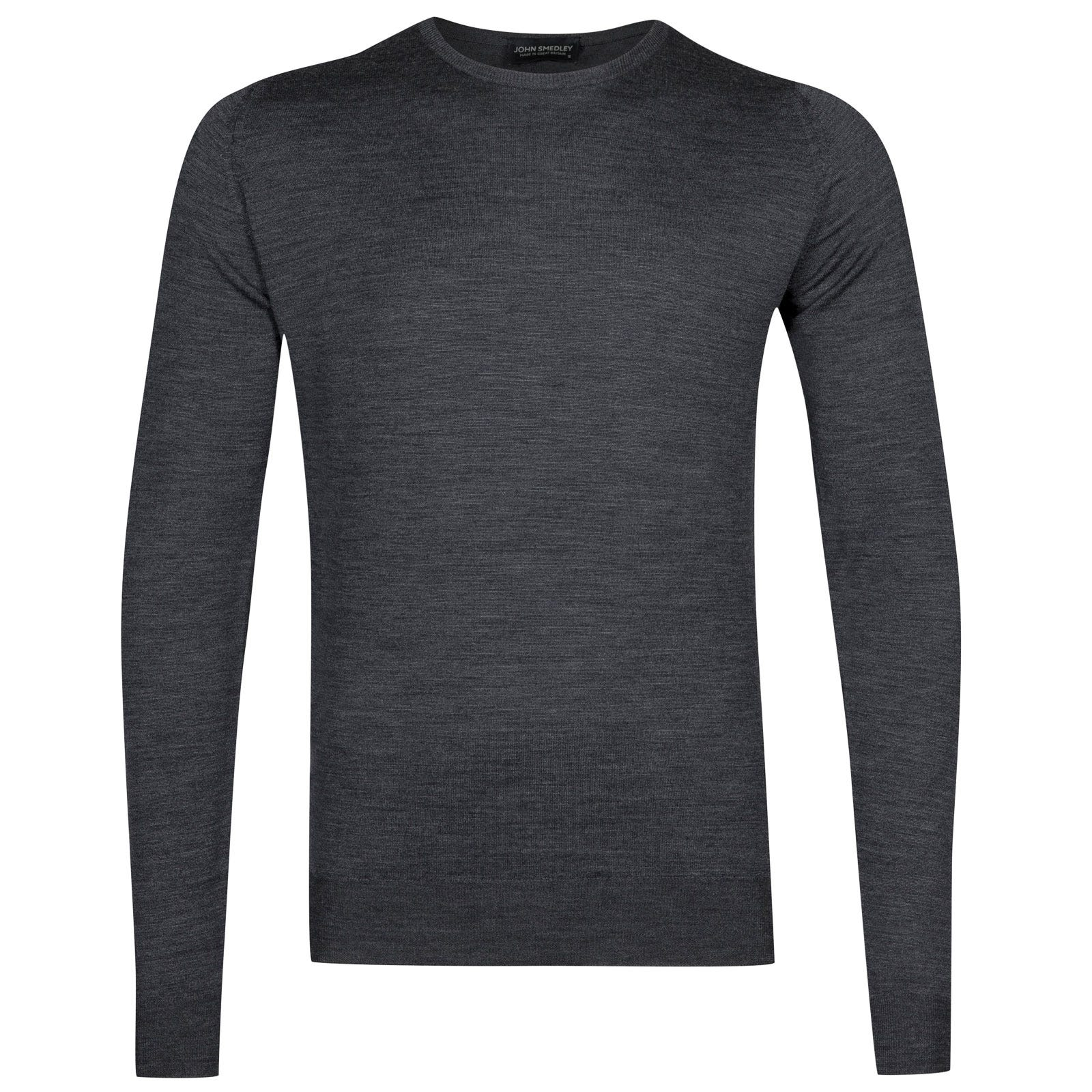 John Smedley lundy Merino Wool Pullover in Charcoal-S