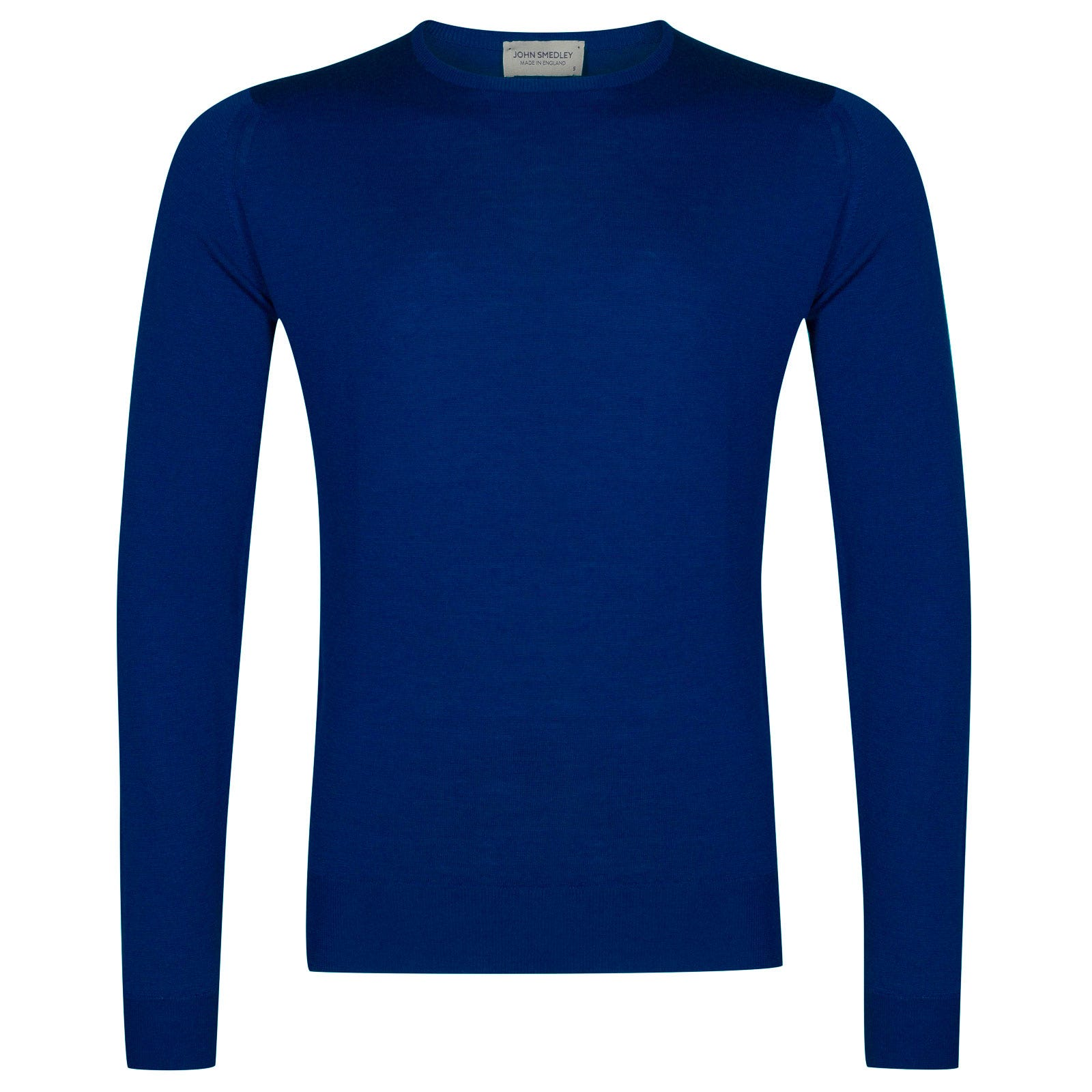 John Smedley lundy Merino Wool Pullover in Coniston Blue-M