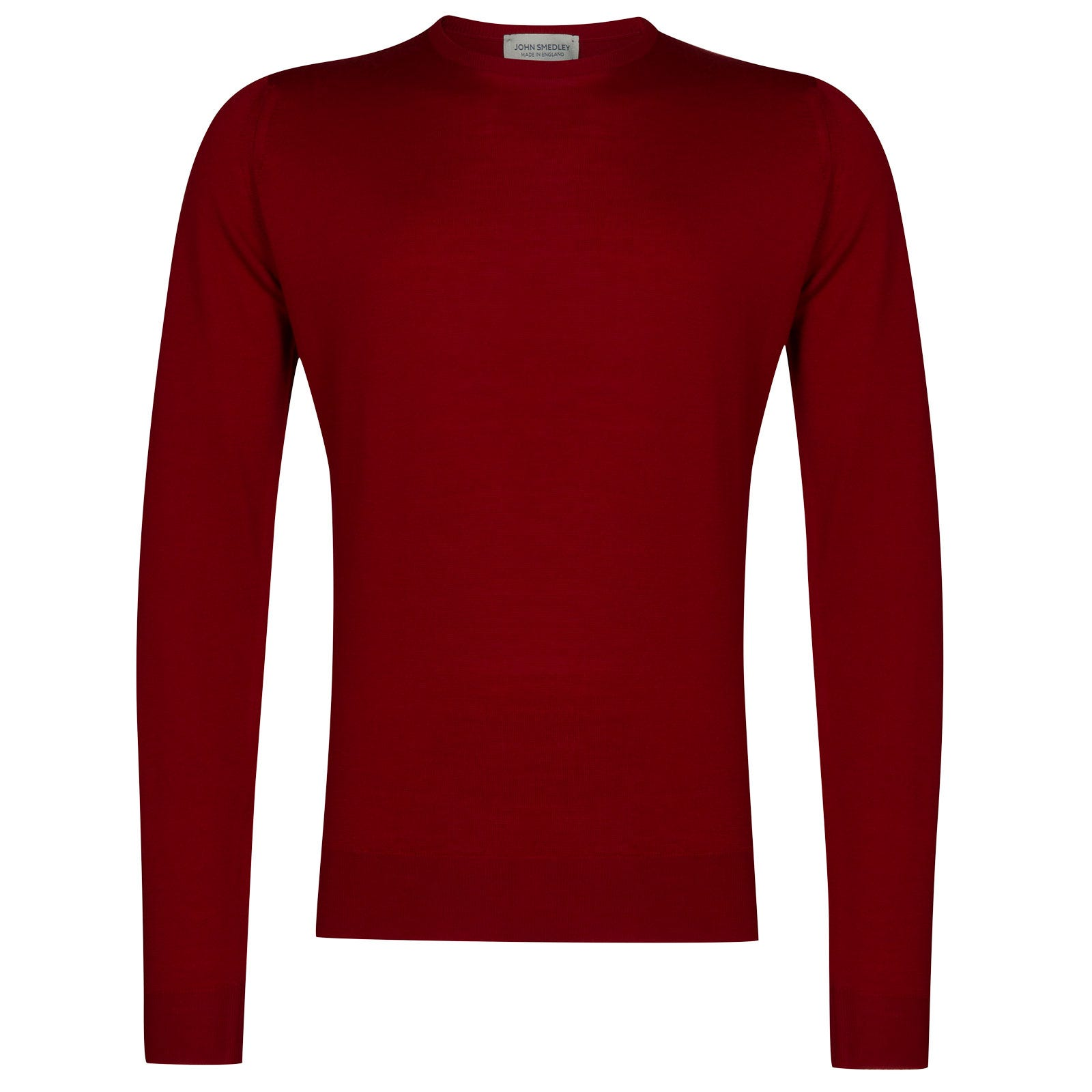 John Smedley lundy Merino Wool Pullover in Crimson Forest-M