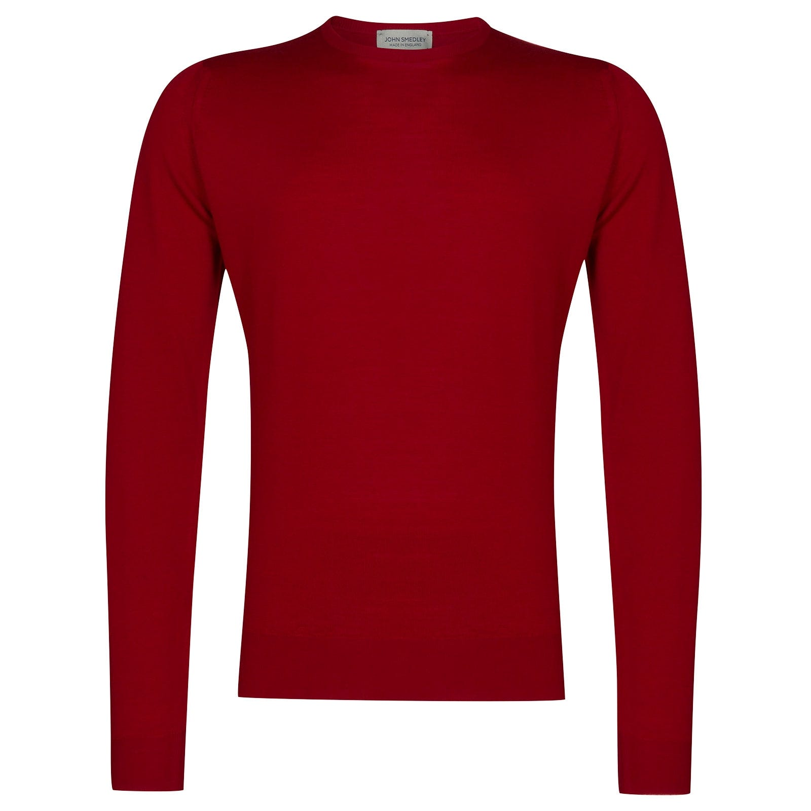 John Smedley Lundy Merino Wool Pullover in Dandy Red-XXL
