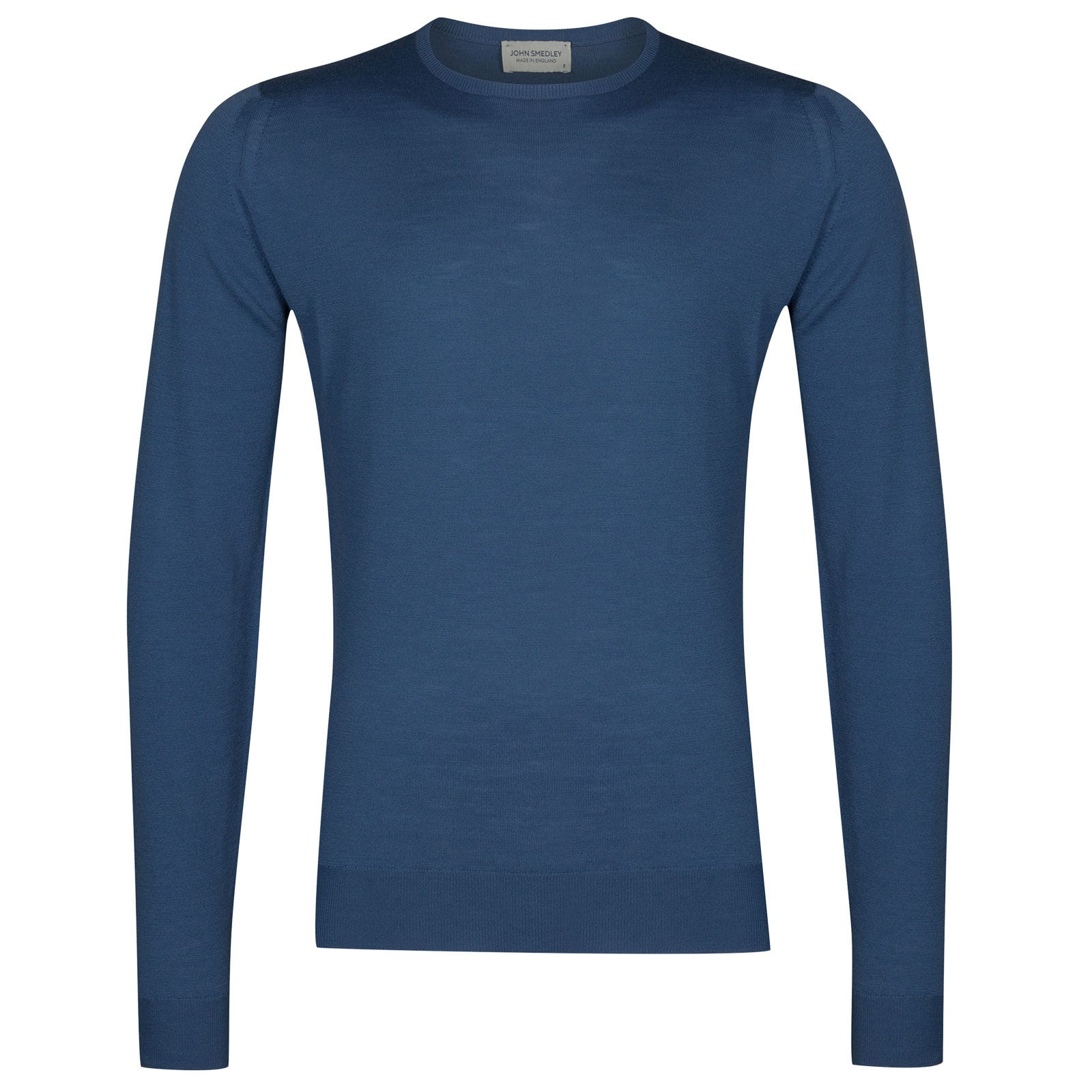 John Smedley lundy Merino Wool Pullover in Derwent Blue-XL