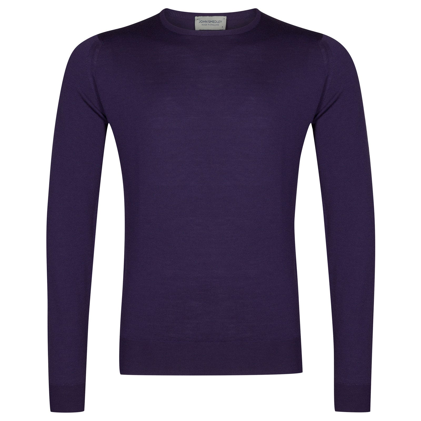 John Smedley lundy Merino Wool Pullover in Elderberry Purple-XL