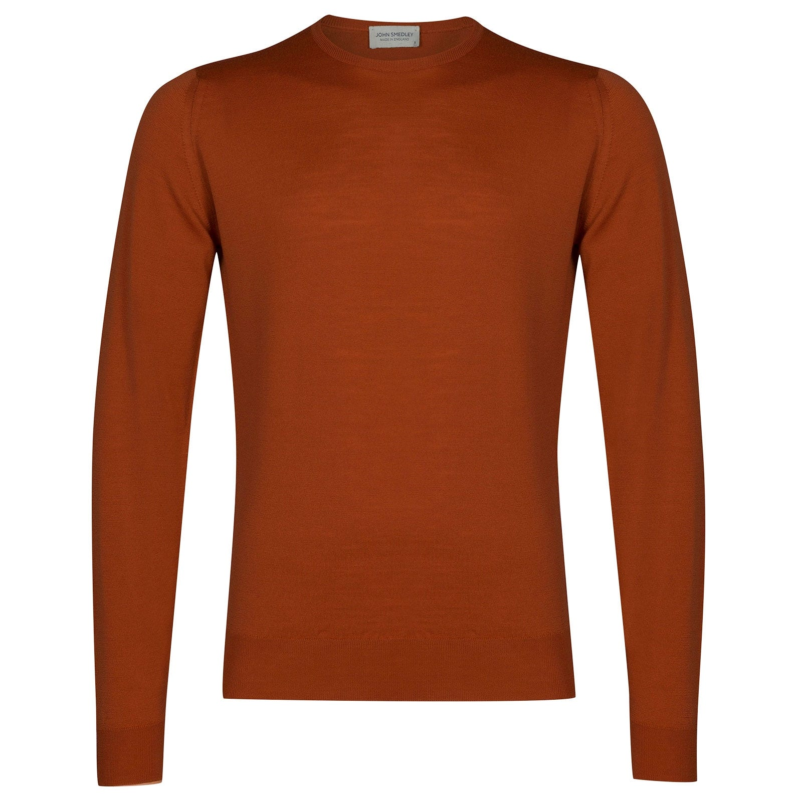 John Smedley lundy Merino Wool Pullover in Flare Orange-XXL