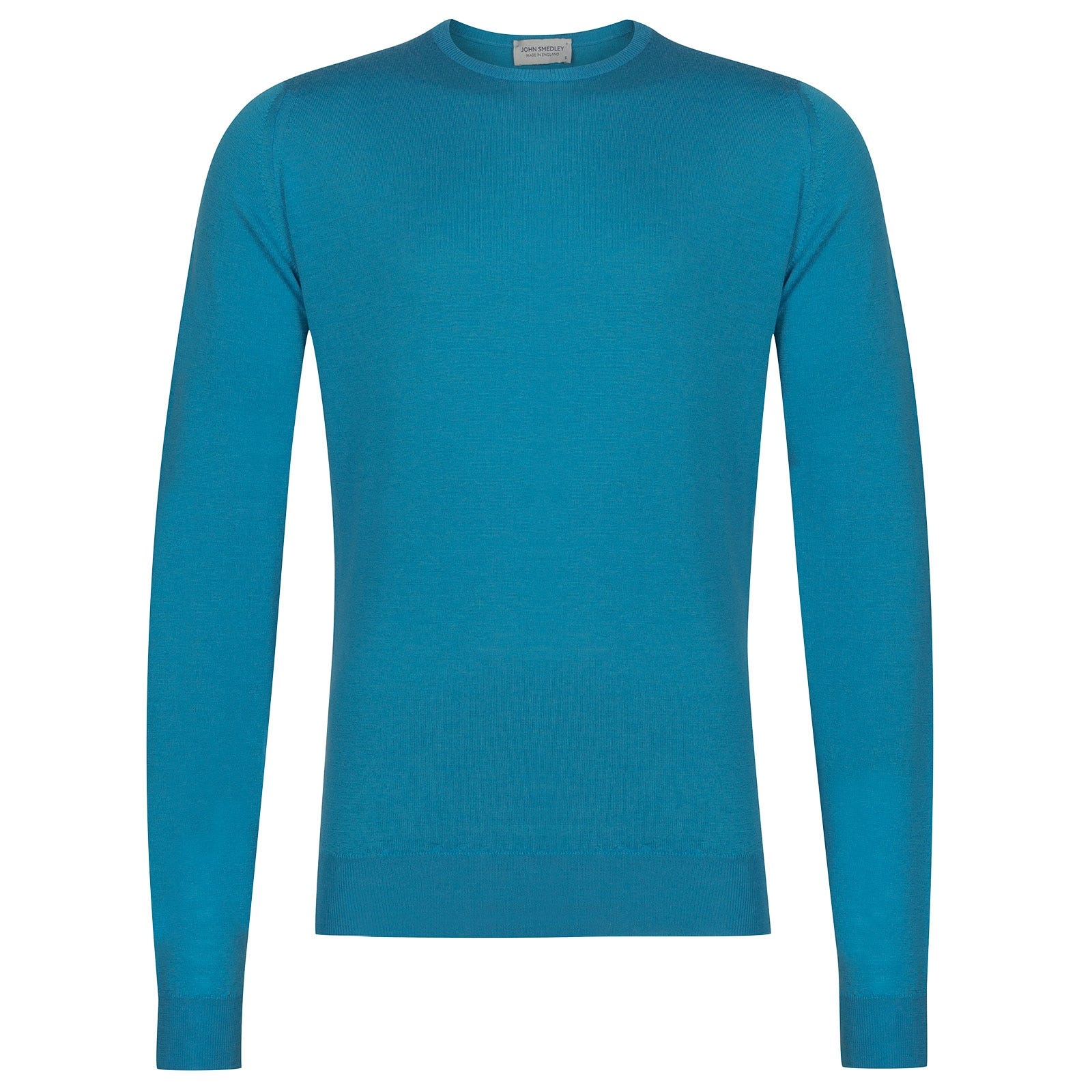 John Smedley Lundy Merino Wool Pullover in Ionize Blue-L