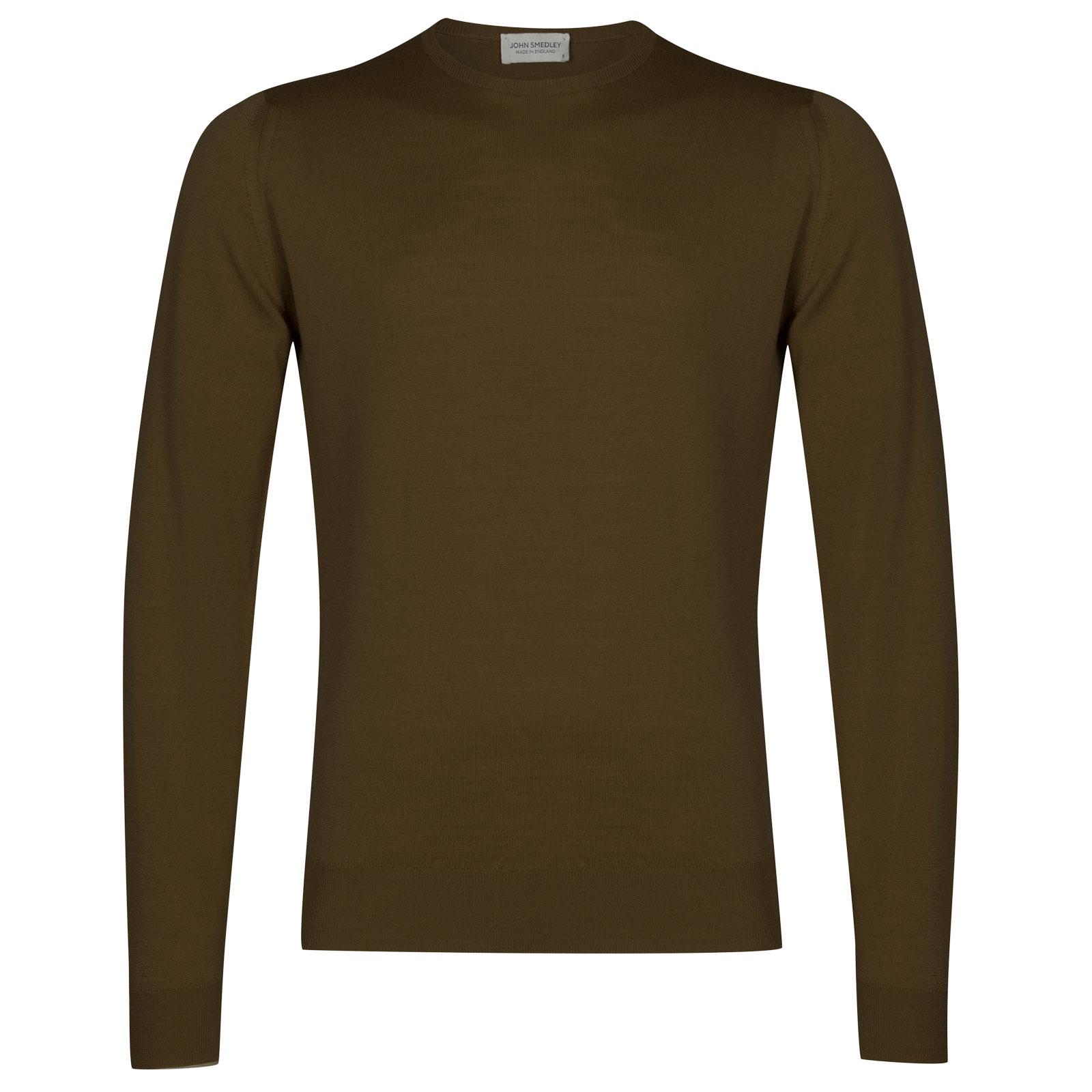 John Smedley lundy Merino Wool Pullover in Kielder Green-M