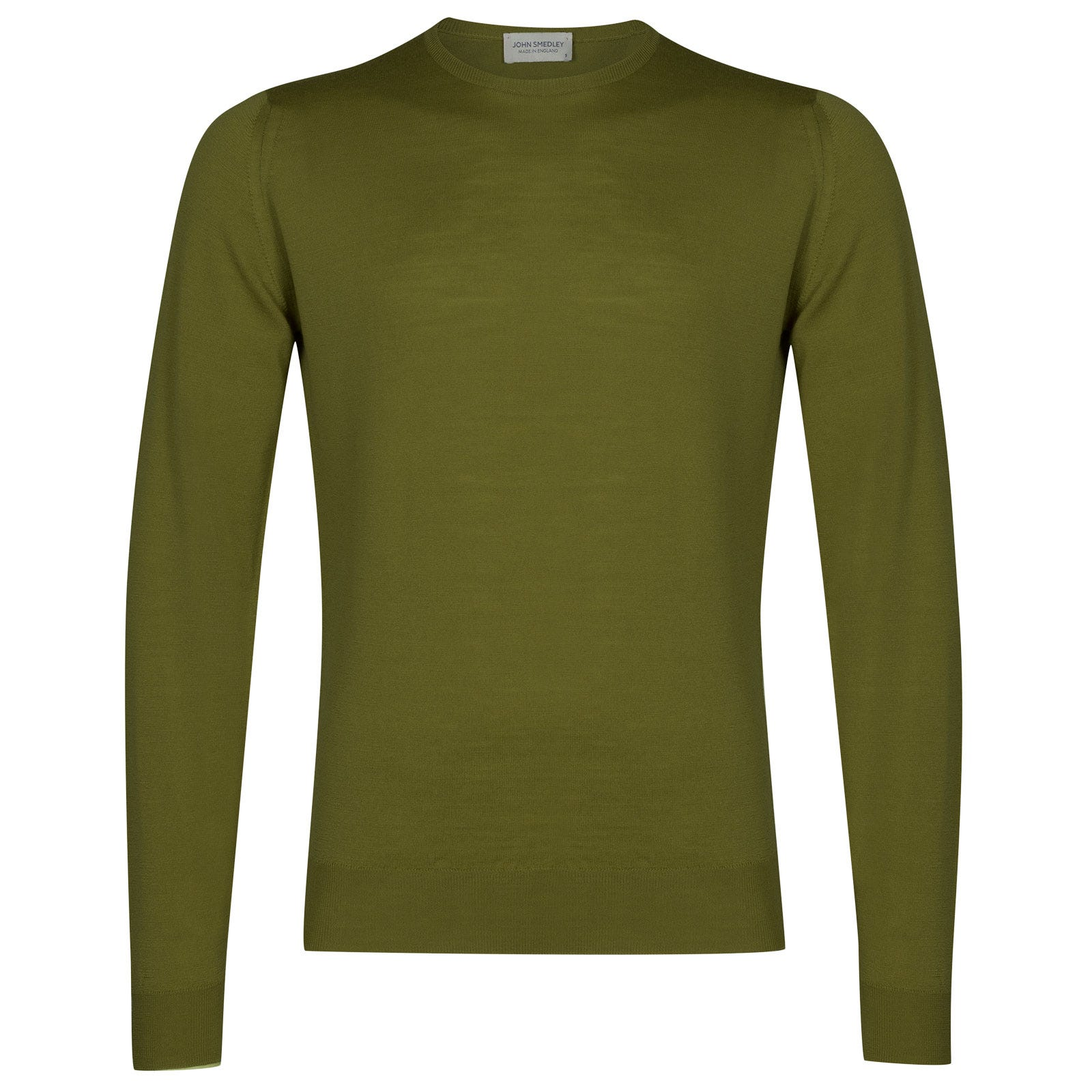 John Smedley lundy Merino Wool Pullover in Lumsdale Green-L