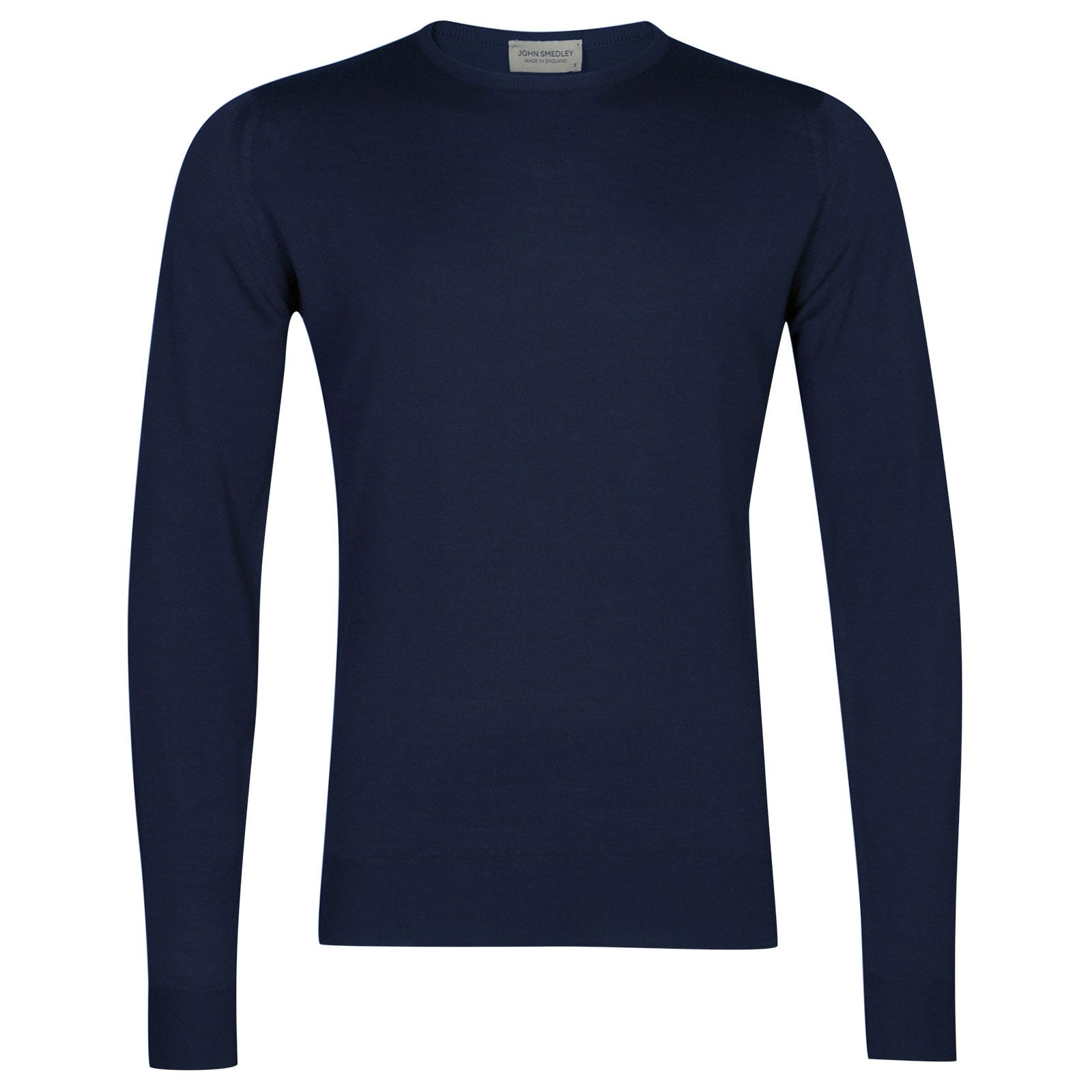 John Smedley Lundy Merino Wool Pullover in Magnetic Cobalt-S