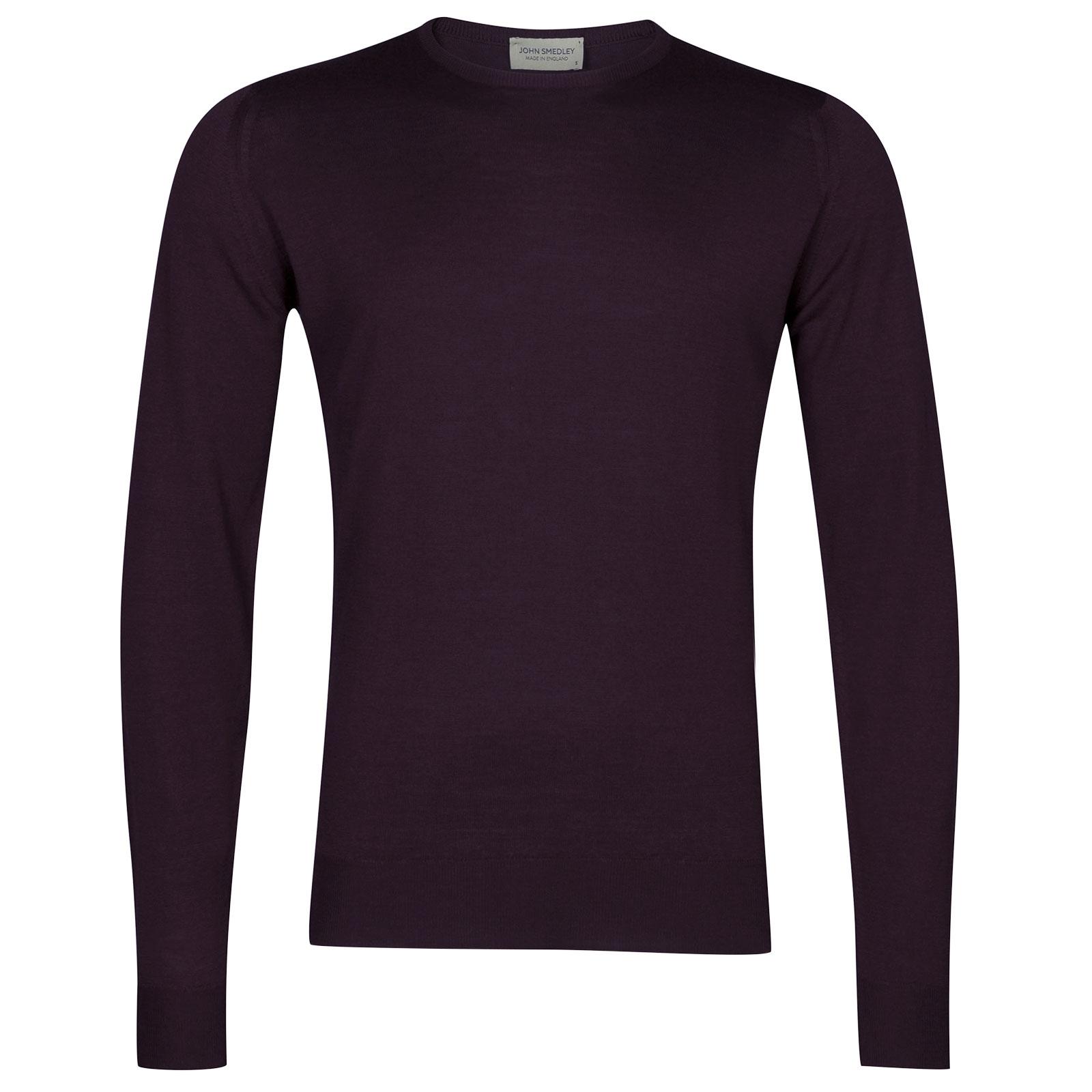 John Smedley Lundy Merino Wool Pullover in Mystic Purple-S