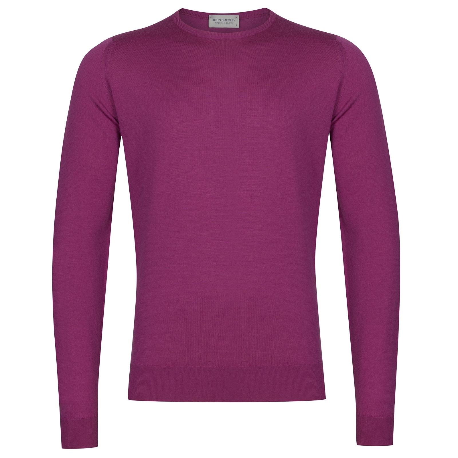 John Smedley Lundy Merino Wool Pullover in Prism Violet-XXL