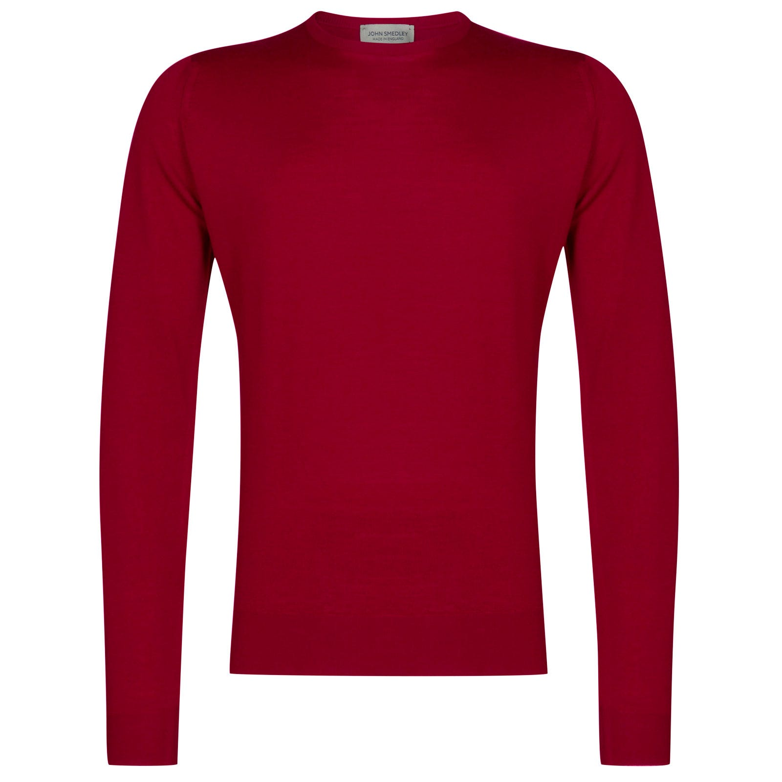 John Smedley lundy Merino Wool Pullover in Scarlet Sky-S