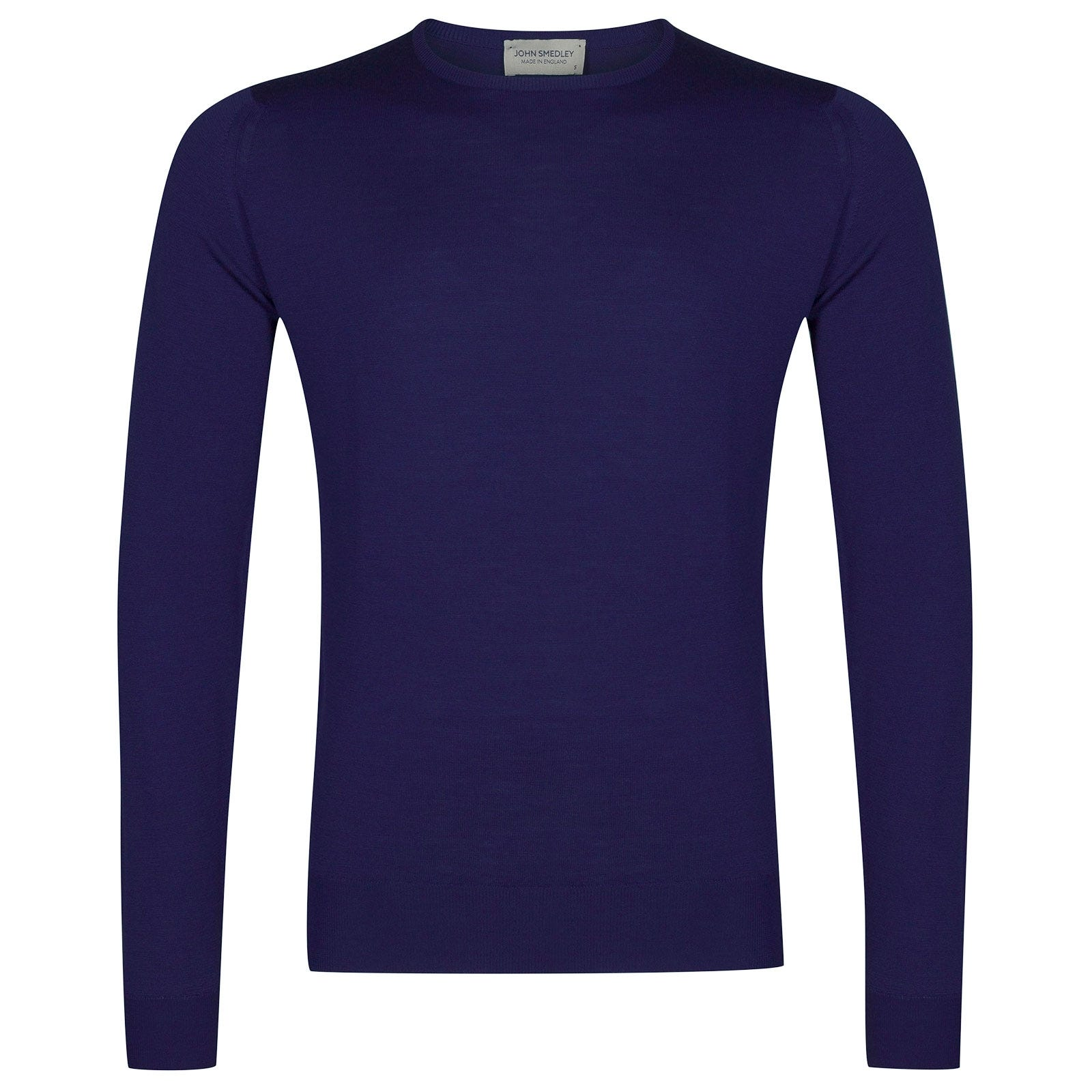 John Smedley Lundy Merino Wool Pullover in Serge Blue-XL