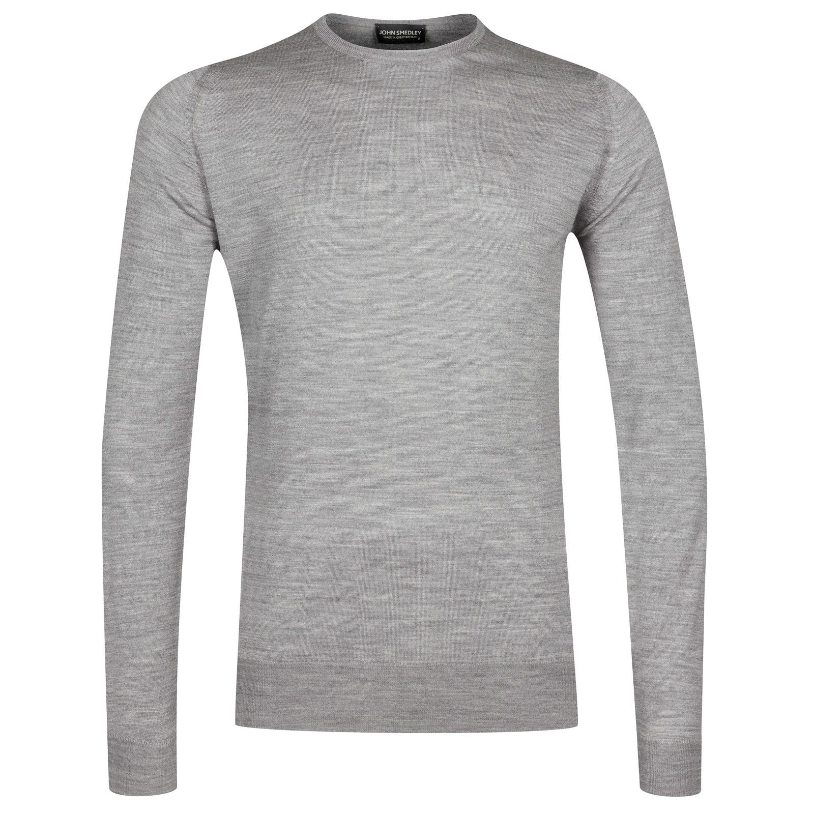 John Smedley lundy Merino Wool Pullover in Silver-XL