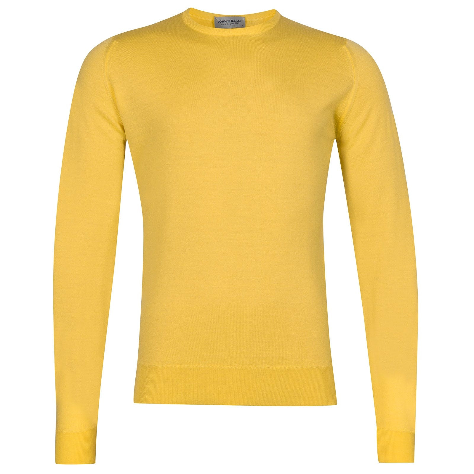 John Smedley Lundy Merino Wool Pullover in Solar Yellow-L