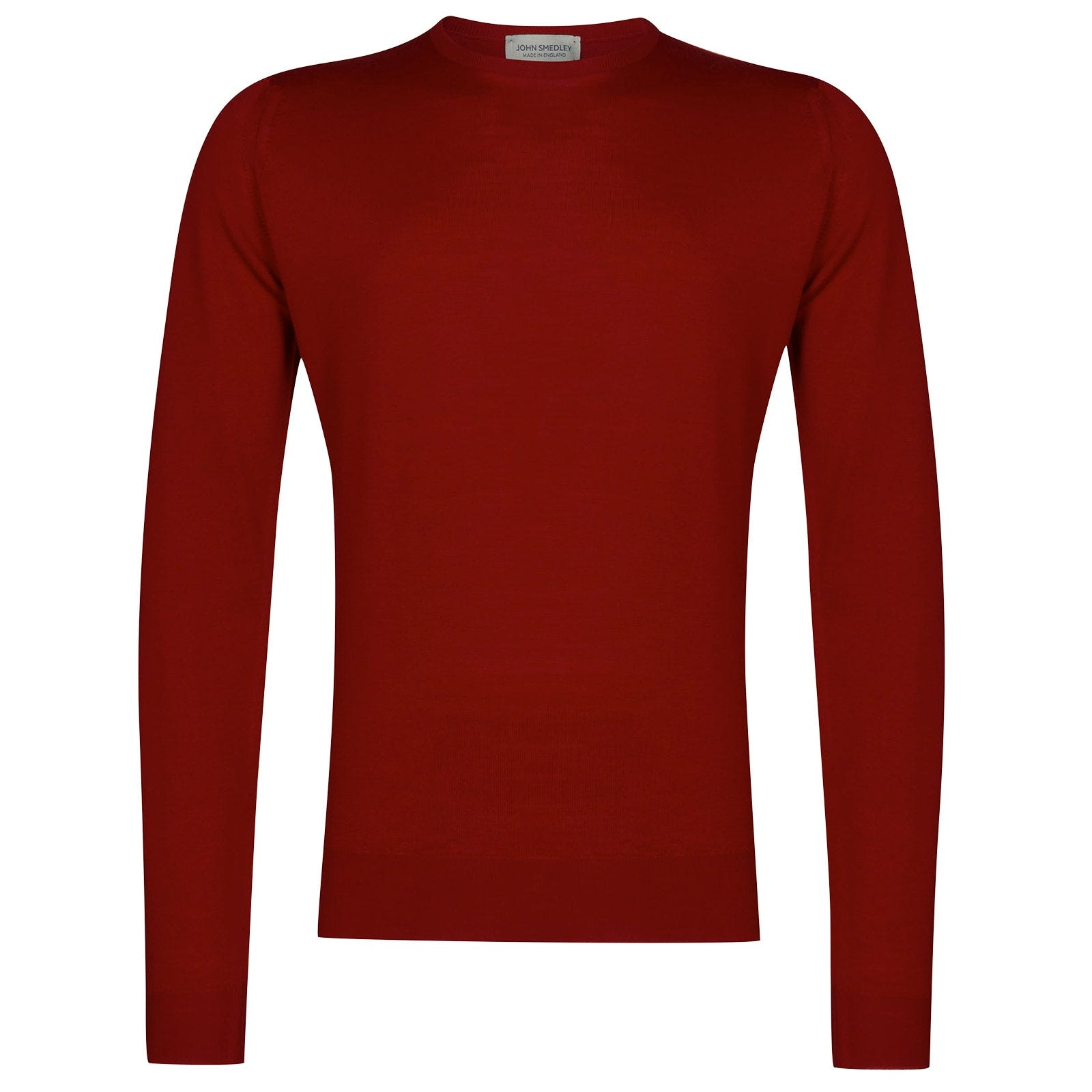 John Smedley Lundy Merino Wool Pullover in Thermal Red-L