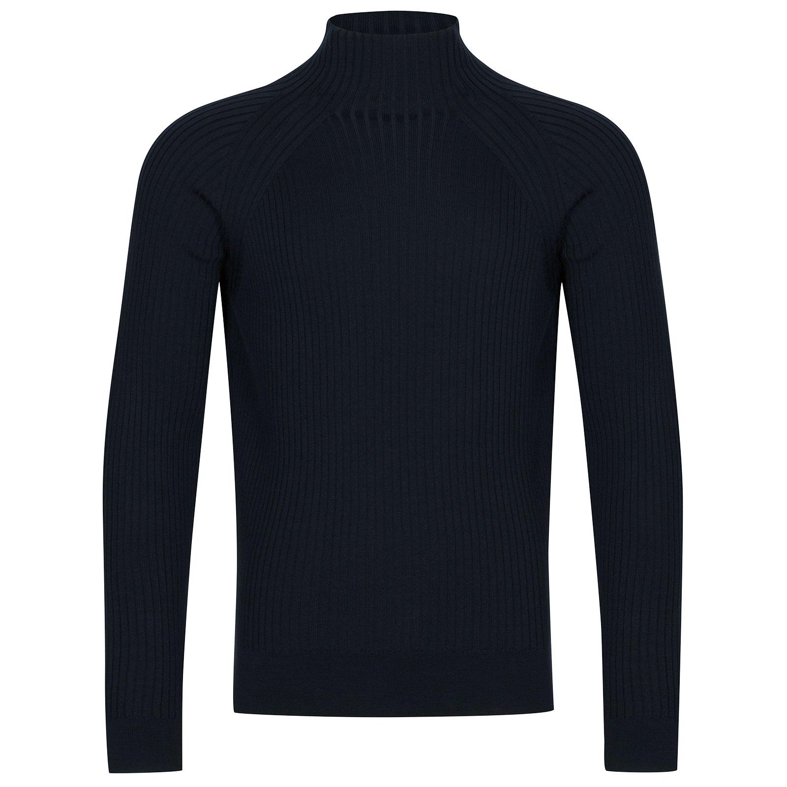 John Smedley Magnet Extra Fine Merino Wool Pullover in Midnight-M