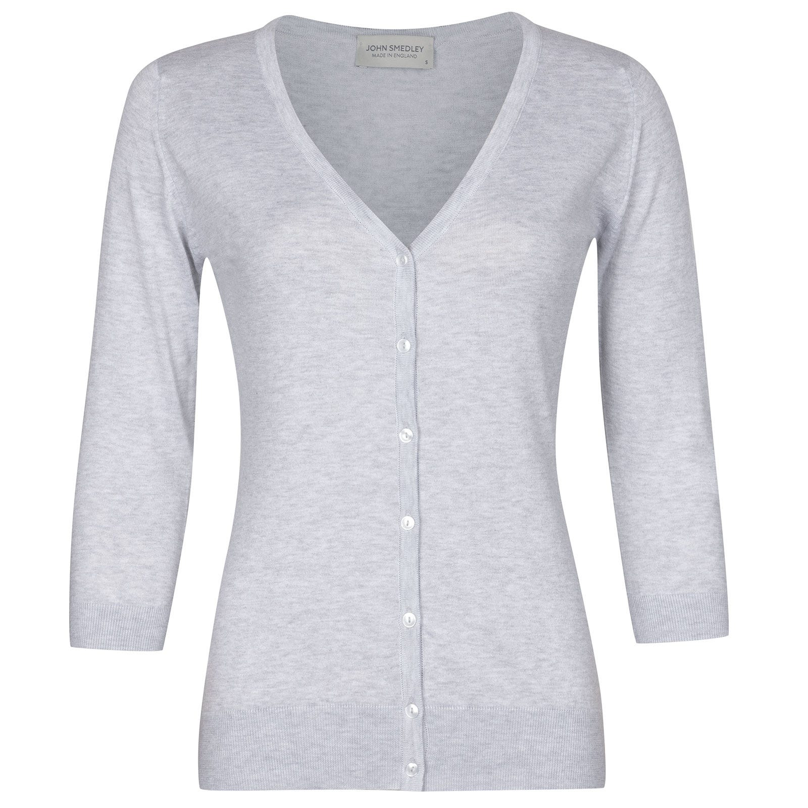 John Smedley Maida in Feather Grey Cardigan-XLG