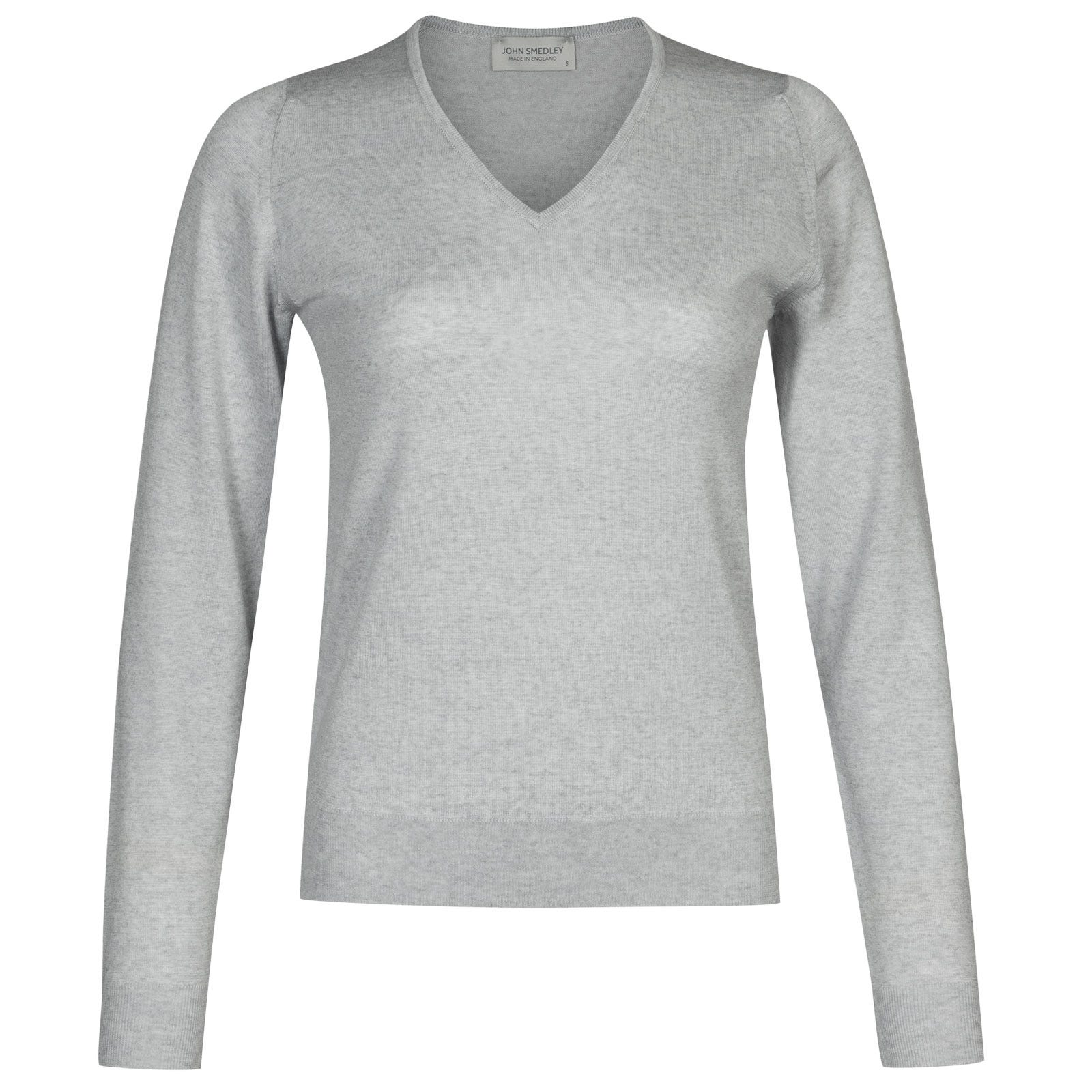 John Smedley manarola Merino Wool Sweater in Bardot Grey-M