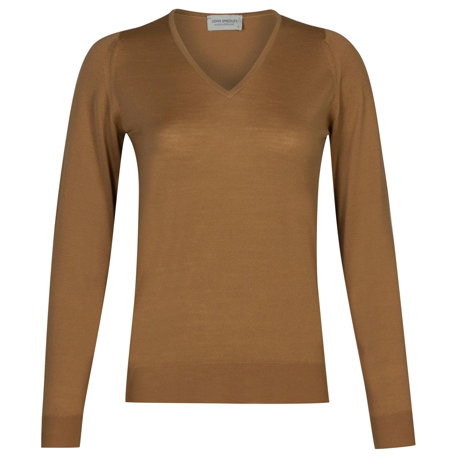John Smedley manarola Merino Wool Sweater in Camel-M